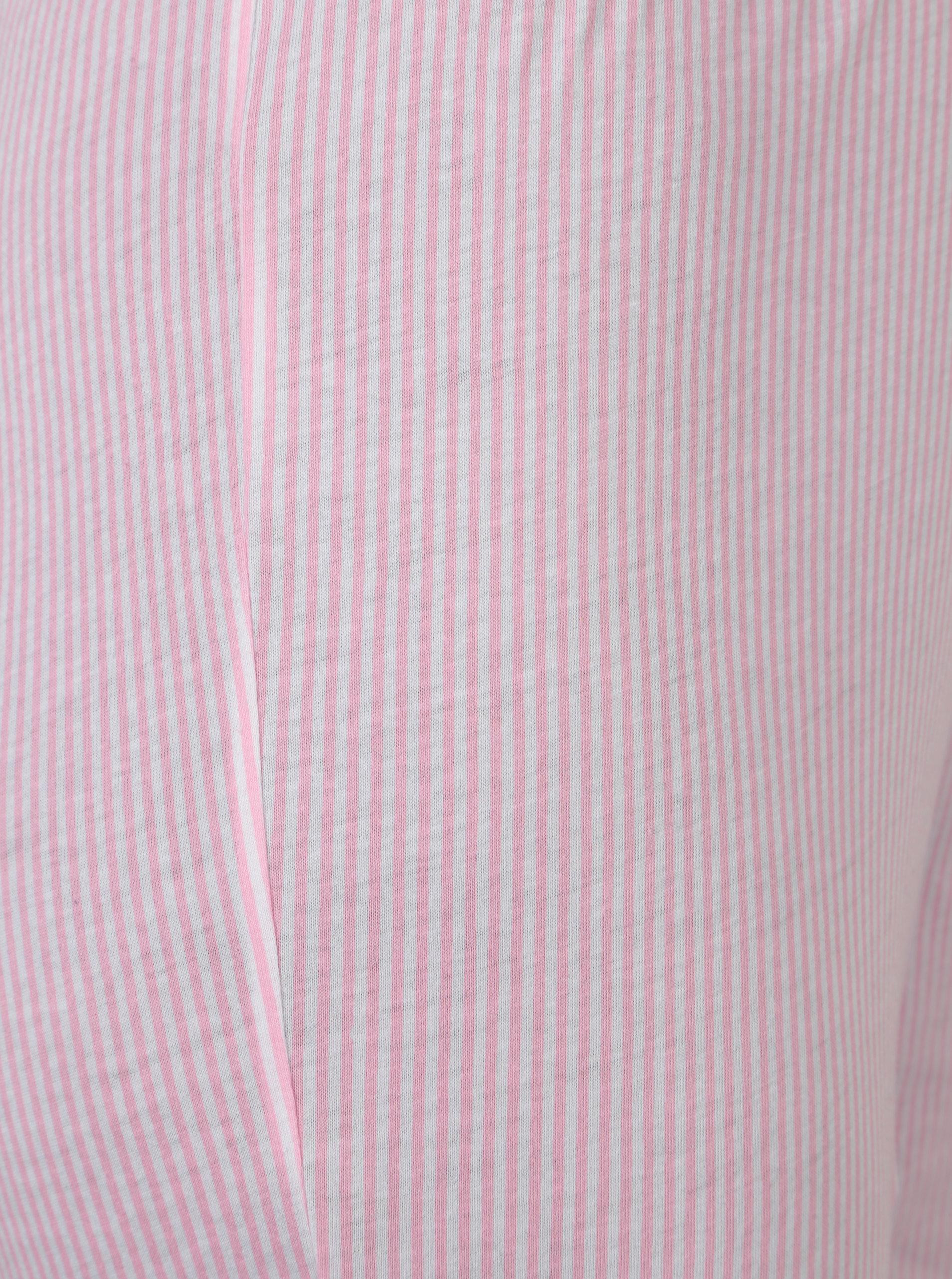 Růžové dámské pruhované pyžamové kalhoty Lauren Ralph Lauren ... 8c07cdf8d2