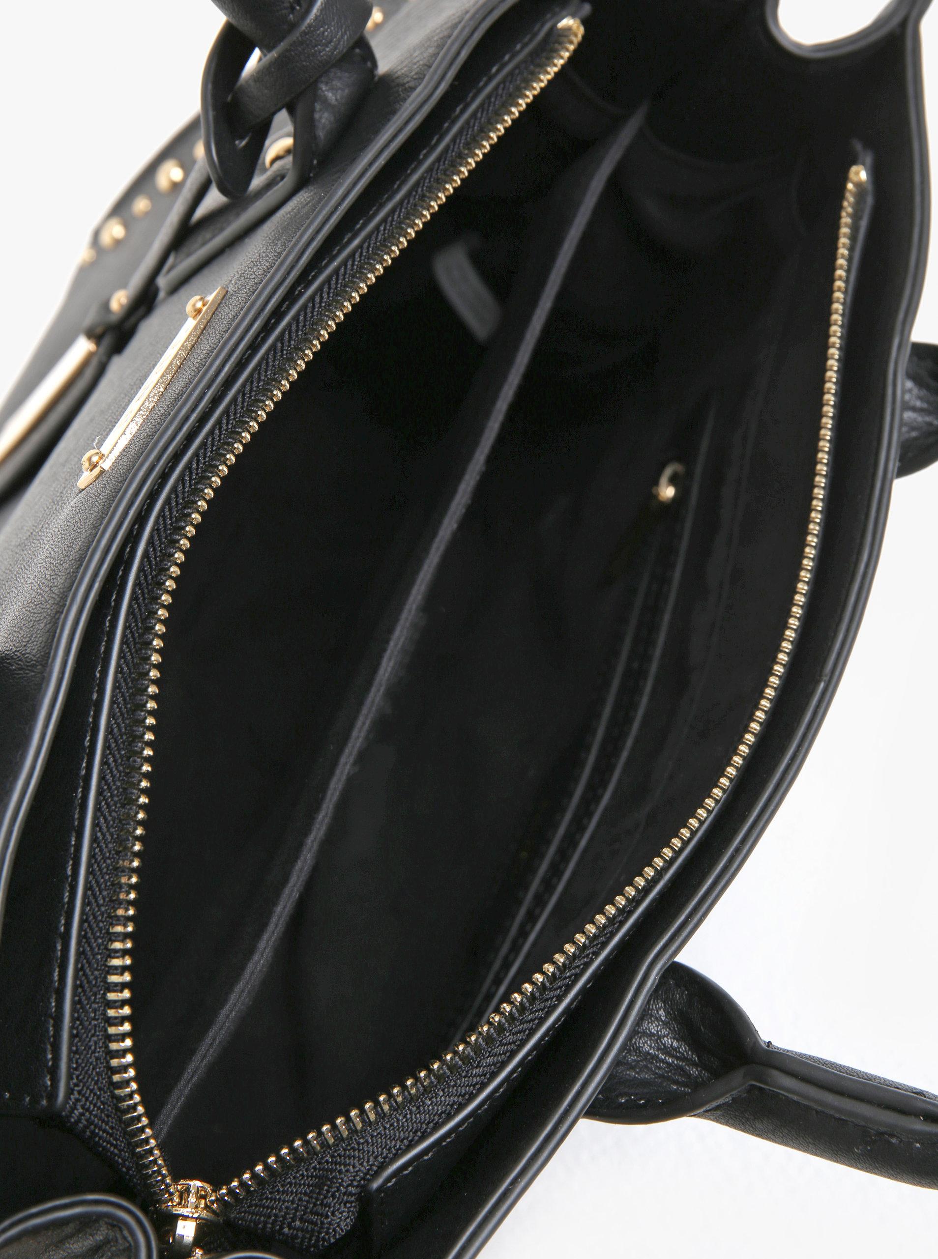 Čierna kabelka s aplikáciou v zlatej farbe Juno ... e87ef9aae6