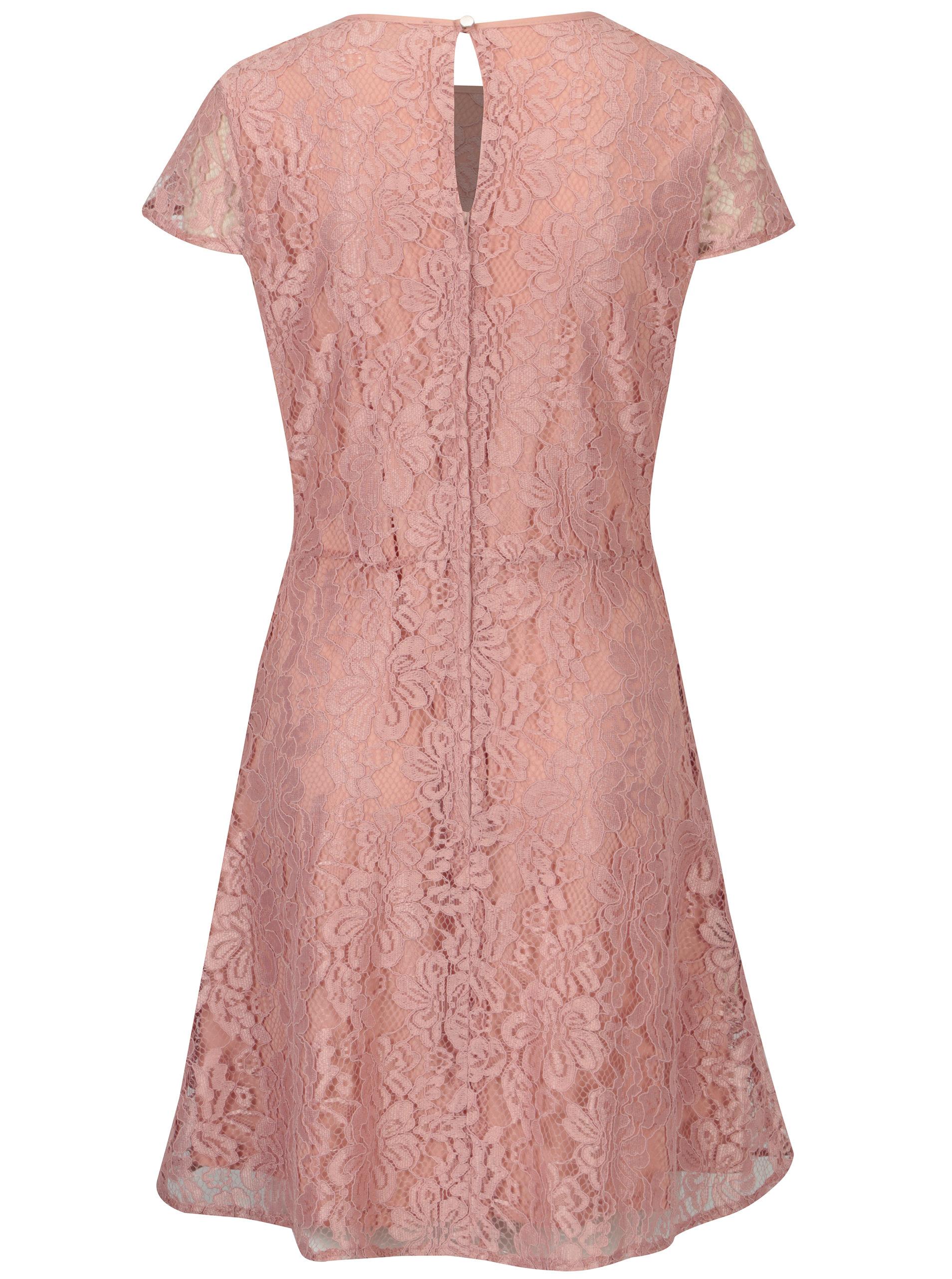 Světle růžové krajkové šaty Dorothy Perkins ... e6f5746cb1