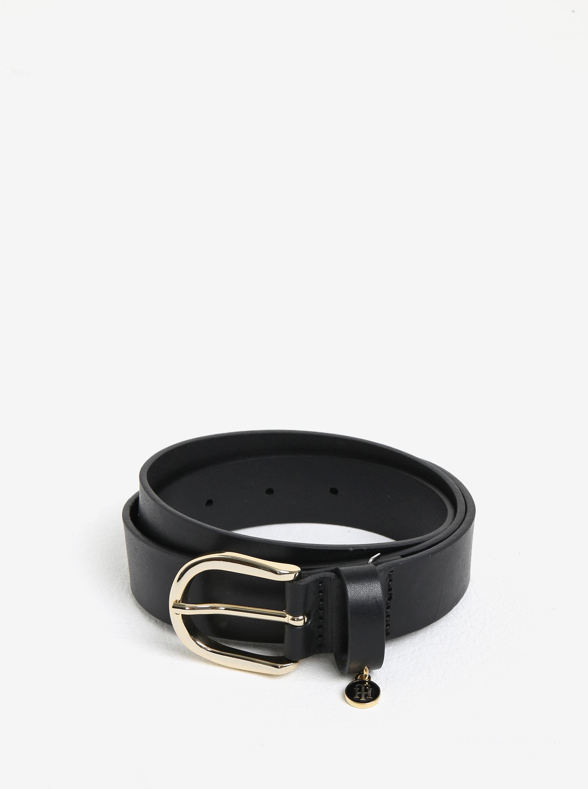 Čierny dámsky kožený opasok Tommy Hilfiger ... 5693b303851
