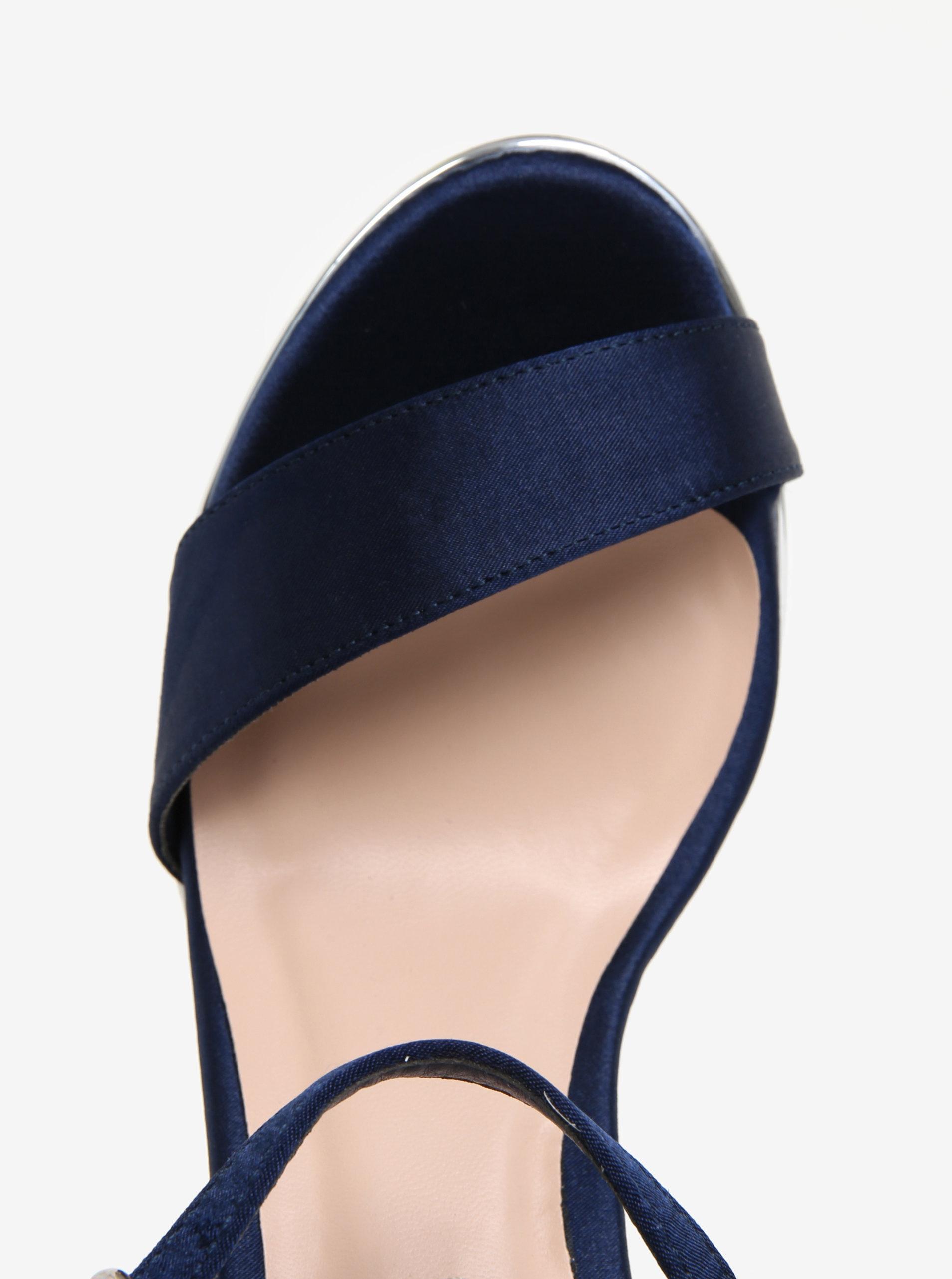 70843dbbcc09 Tmavomodré sandále na vysokom podpätku Dorothy Perkins ...