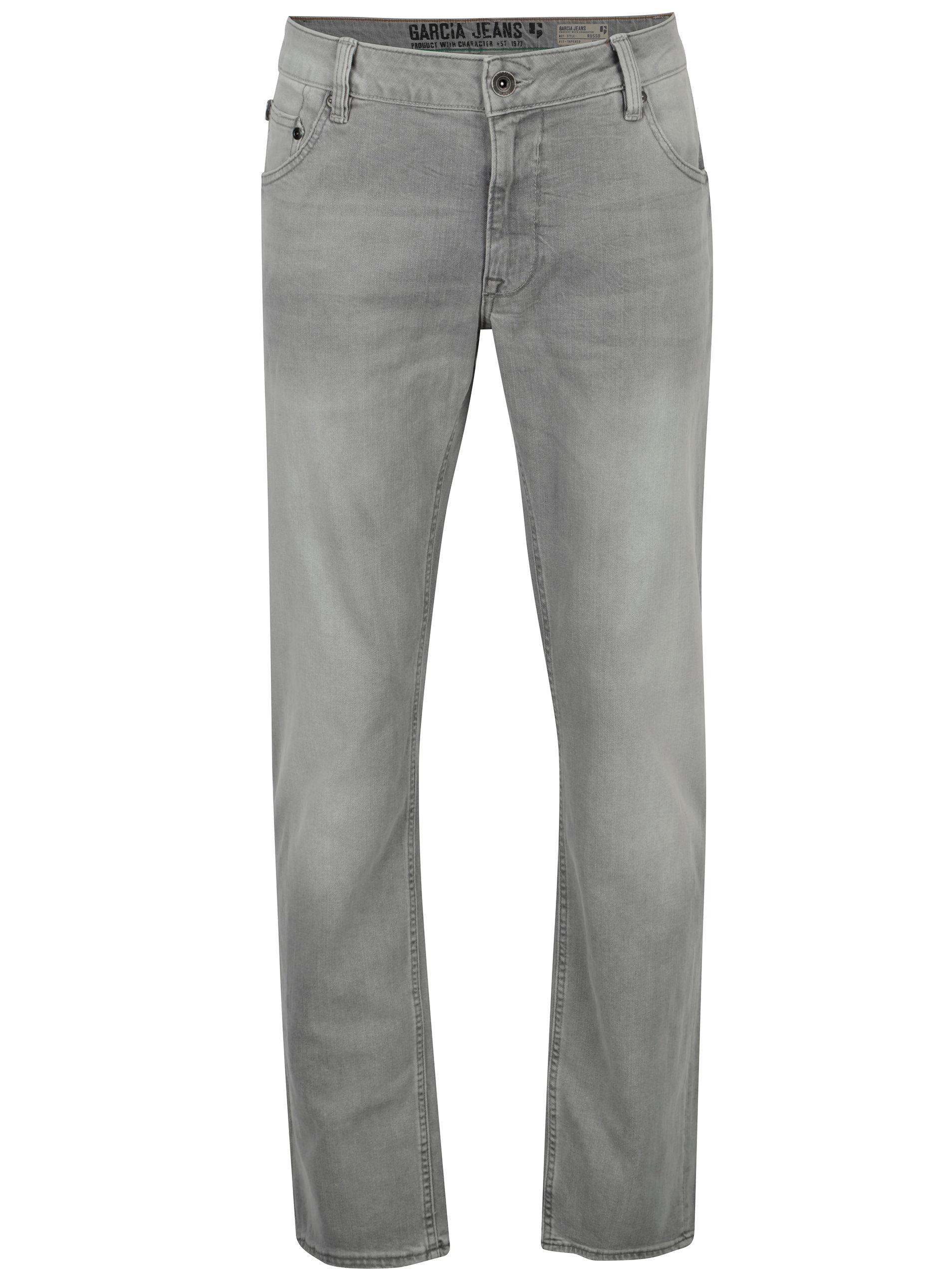 Šedé pánské regular fit džíny s vyšisovaným efektem Garcia Jeans Russo ... 95d9964fbe