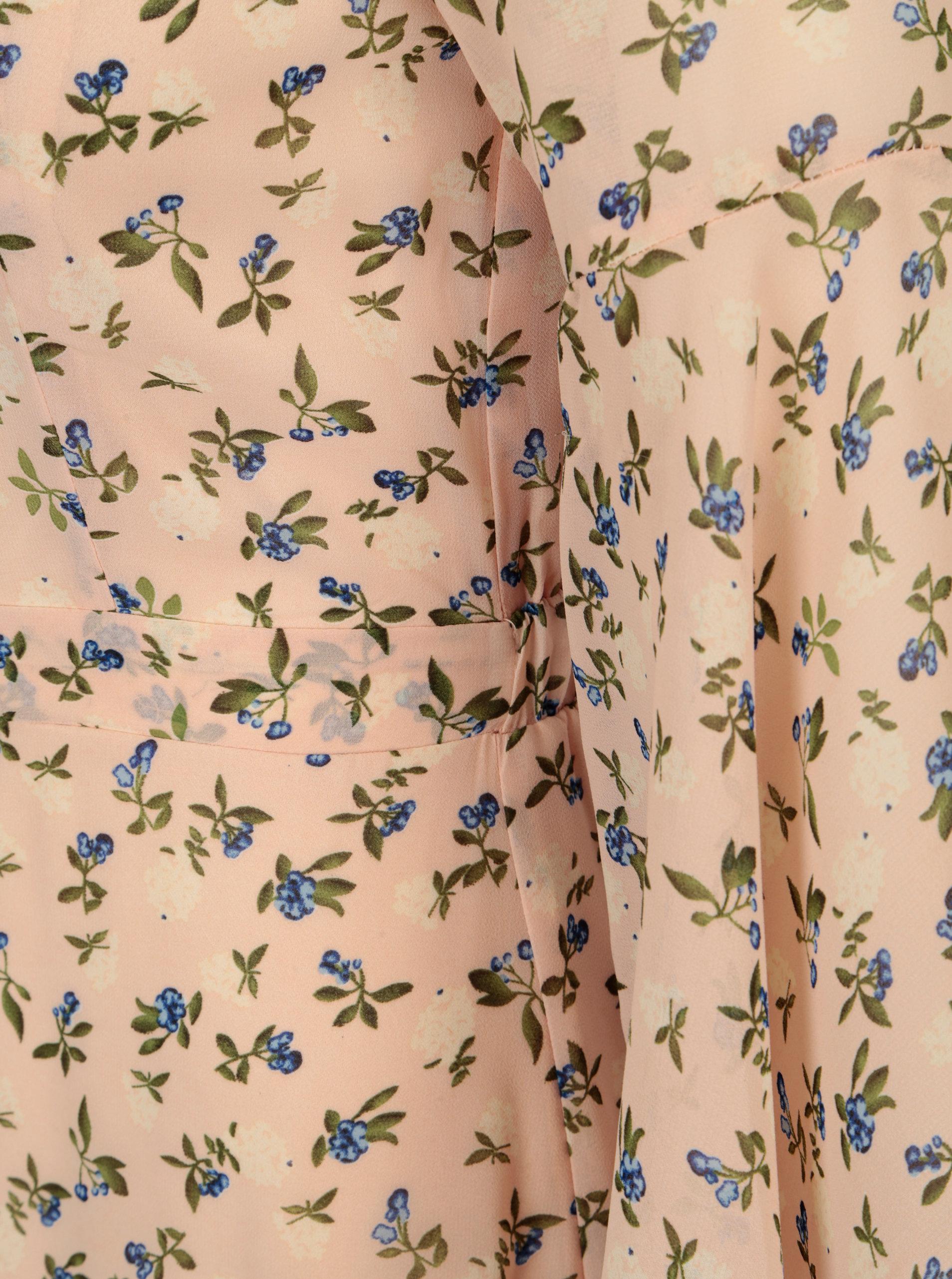 Svetloružové kvetované maxišaty so zvonovými rukávmi Mela London ... abfe80db17c