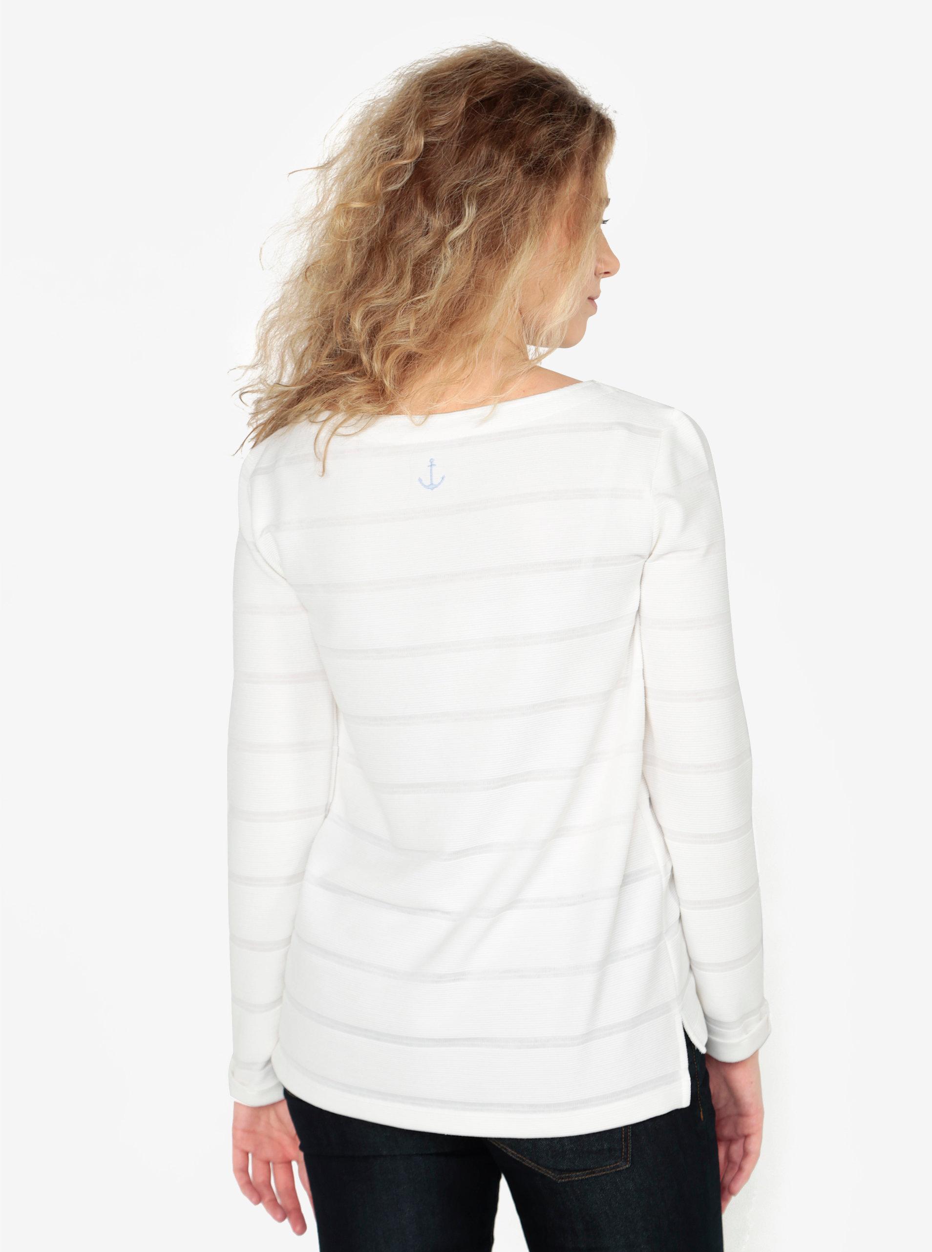 a2ec1374d4b4 Krémové dámske tričko so šnurovaním vo výstrihu s.Oliver