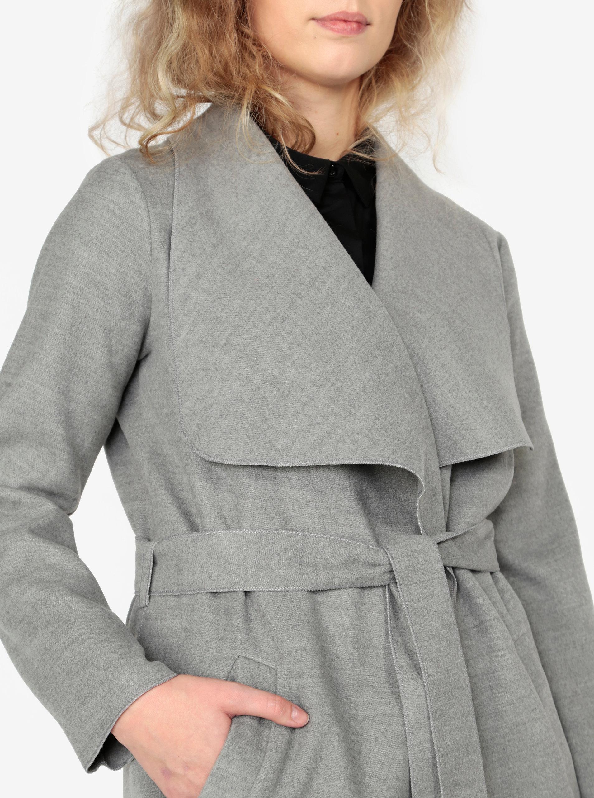 f02fc5fb0 Sivý melírovaný tenký kabát ZOOT | ZOOT.sk