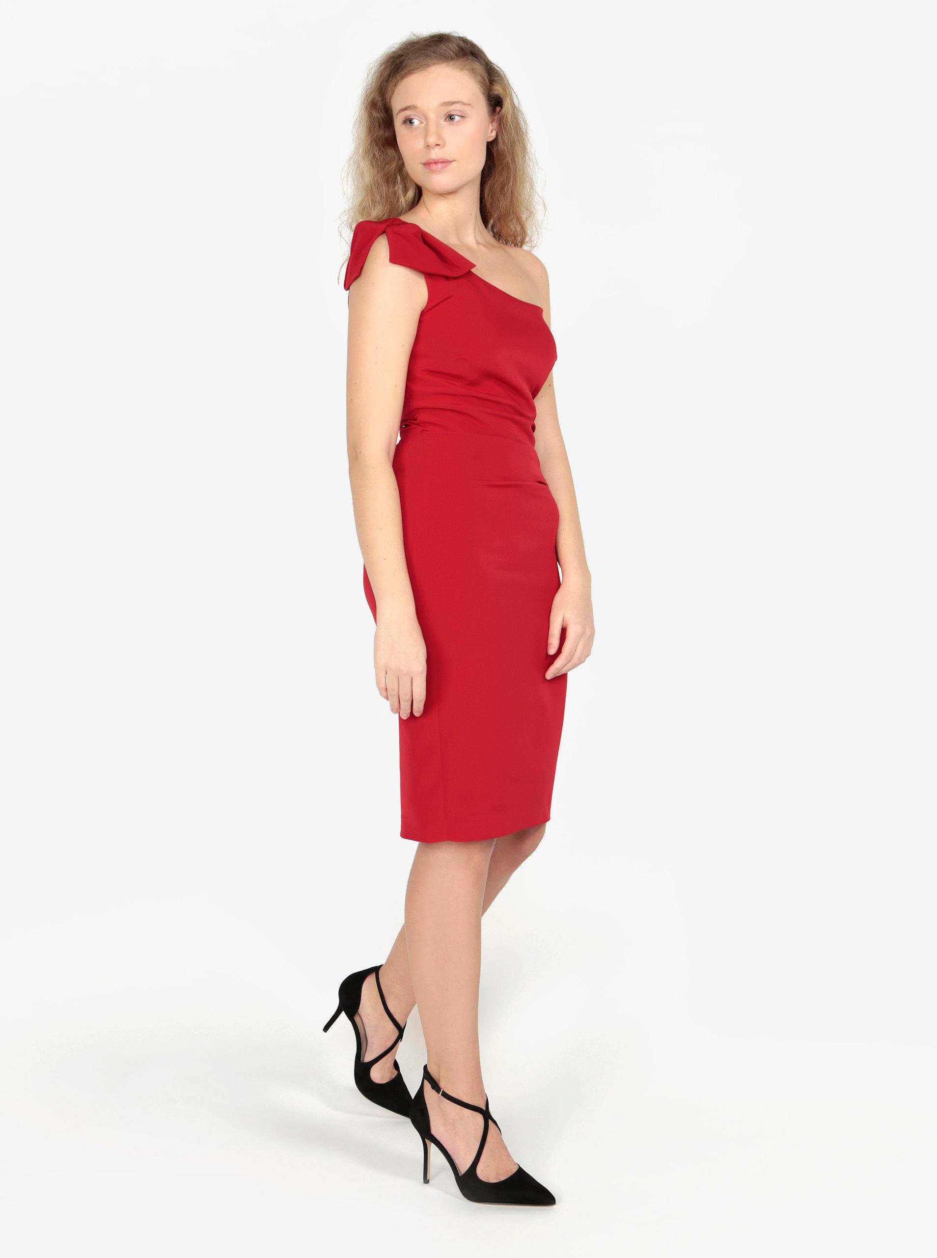d6a63ac198ec Červené asymetrické puzdrové šaty Oasis Lolita ...