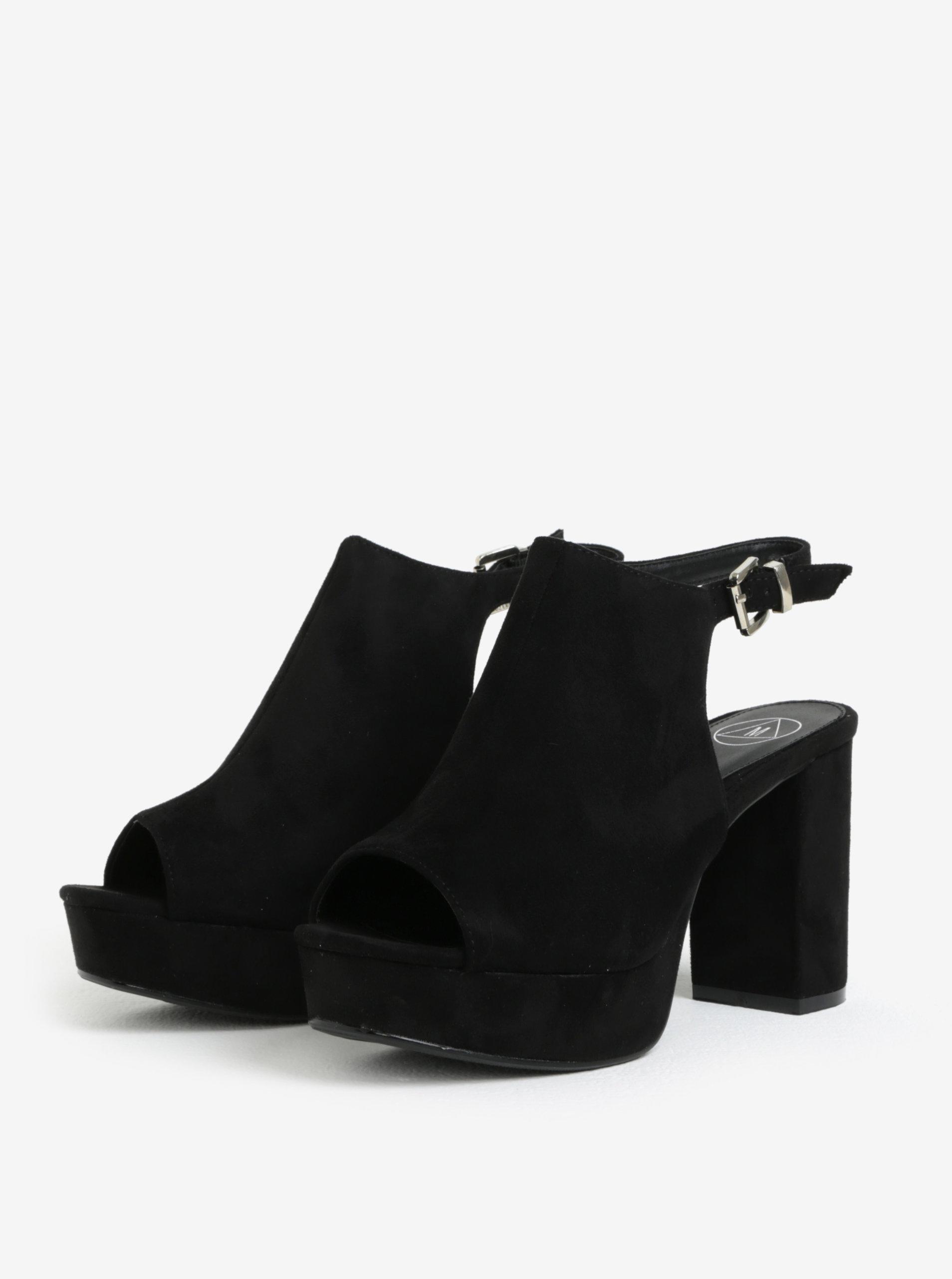 114d1455c405 Čierne sandále na platforme MISSGUIDED ...