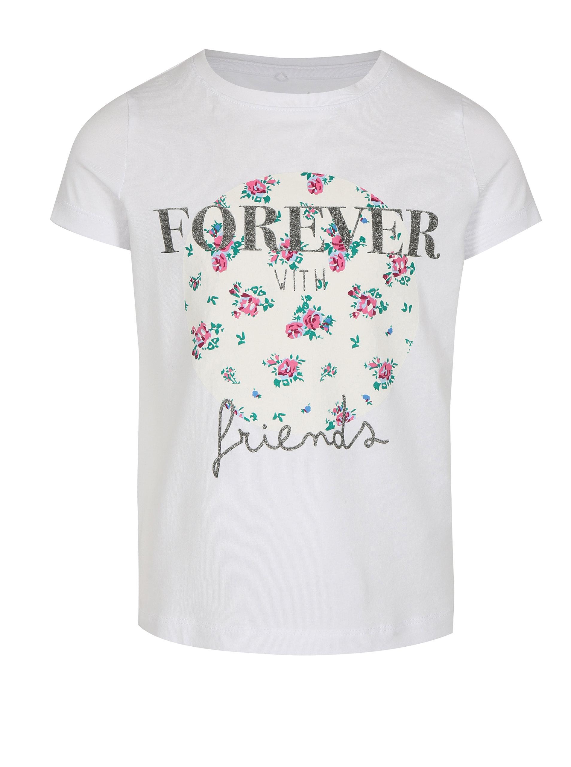b79a2a7372d5 Biele dievčenské tričko s ligotavým nápisom name it Ivalaiane ...