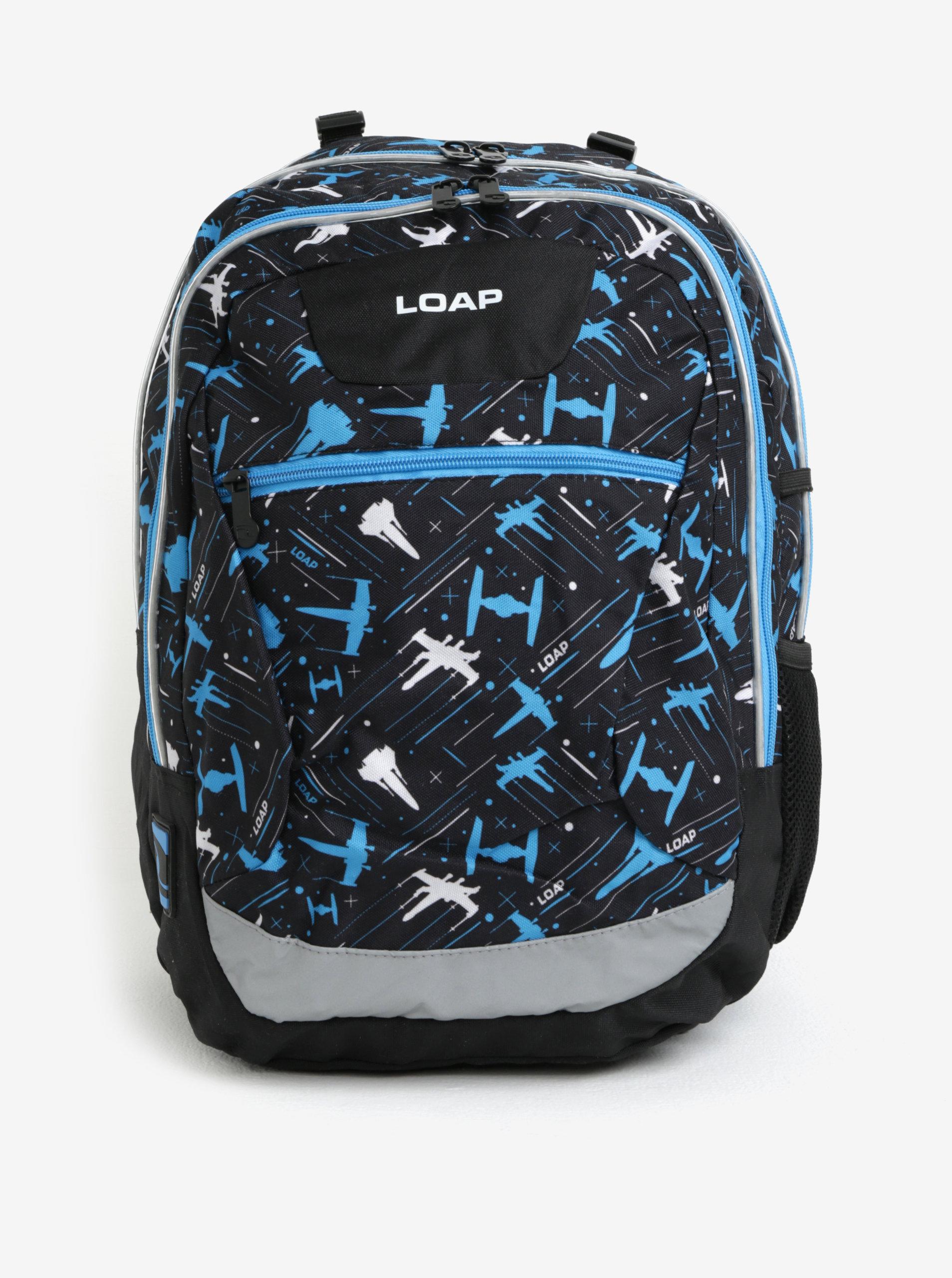 Černo-modrý klučičí vzorovaný batoh LOAP Ellipse 25 l ... 6f238d6420
