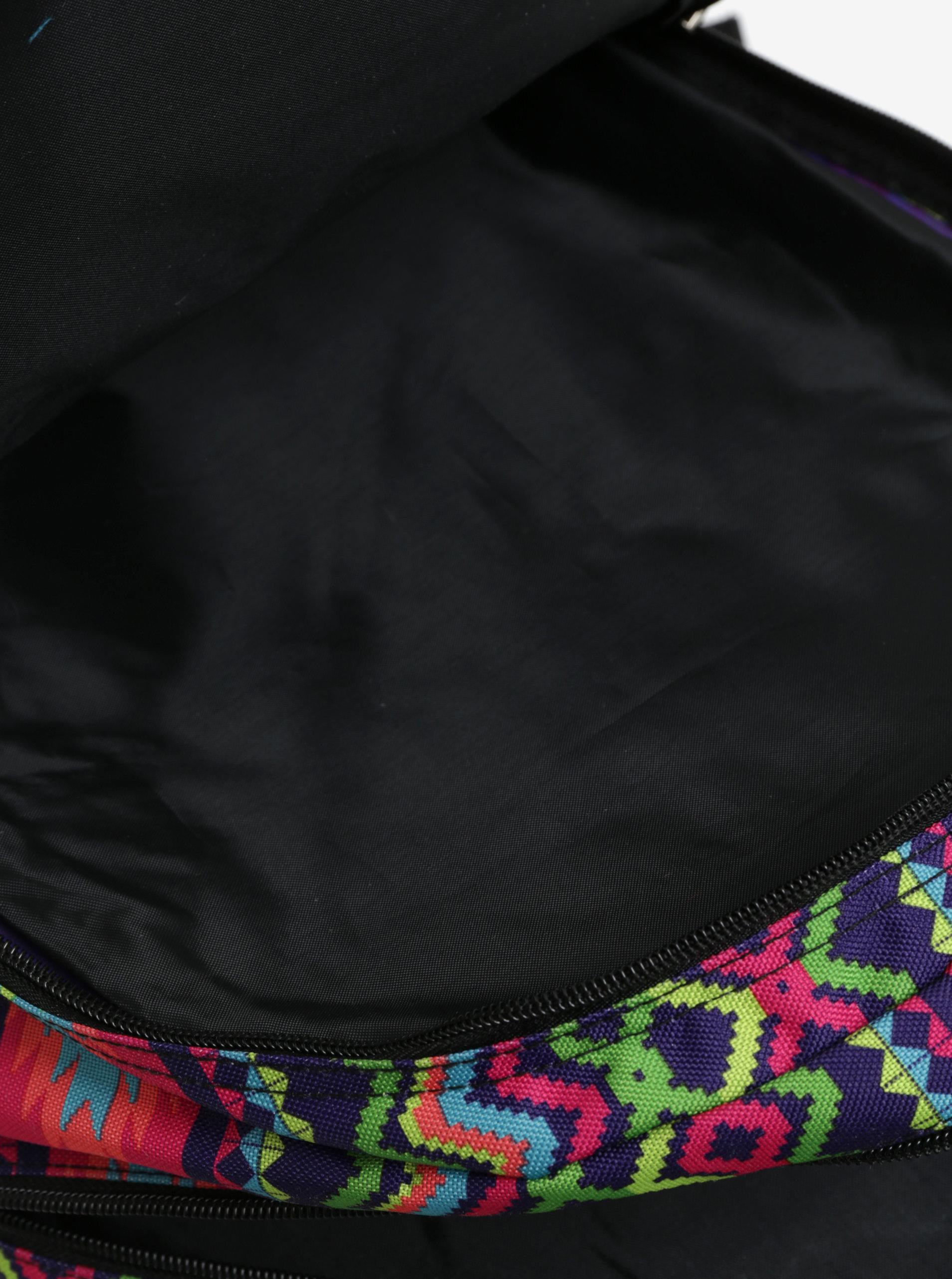 483cc3127660 Zeleno-fialový dámsky vzorovaný batoh LOAP Lian 20 l ...