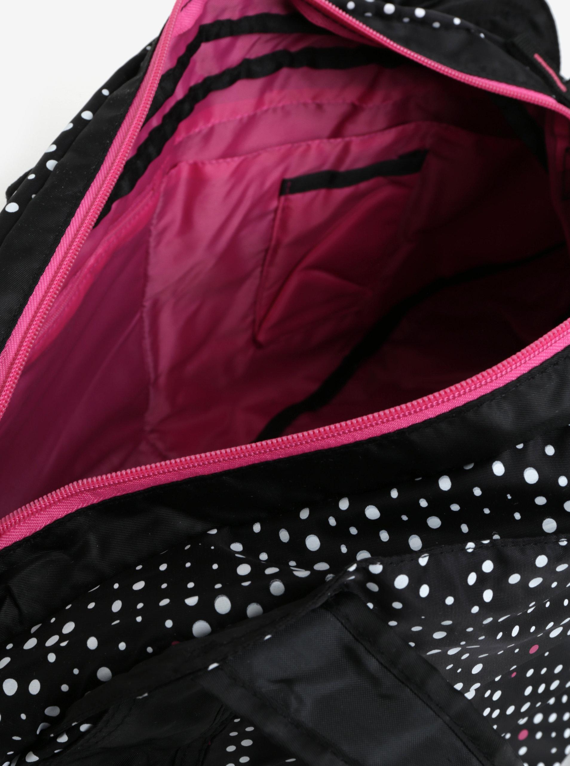 787ad608488a Čierna vzorovaná športová taška LOAP Sandrine 30 l ...