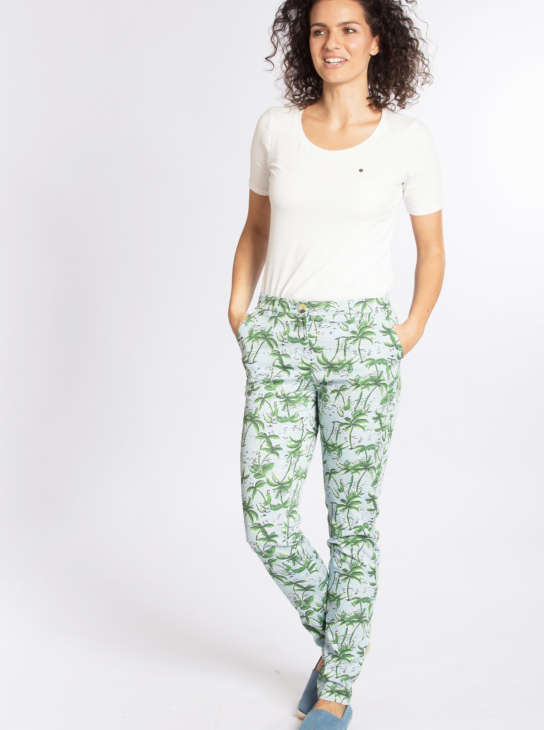 Zeleno-modré vzorované kalhoty Blutsgeschwister ... f54b97dc7a