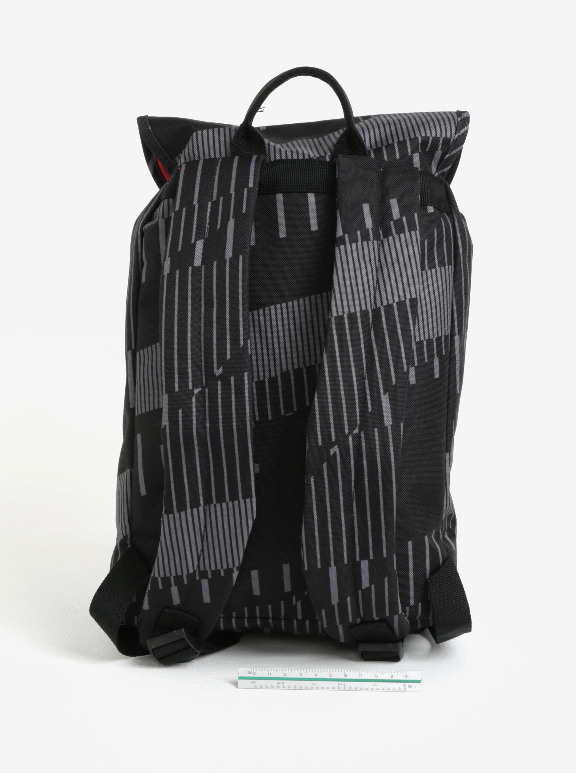 4b3cab9e9b8 Šedo-černý batoh s potiskem The Pack Society 10 l ...