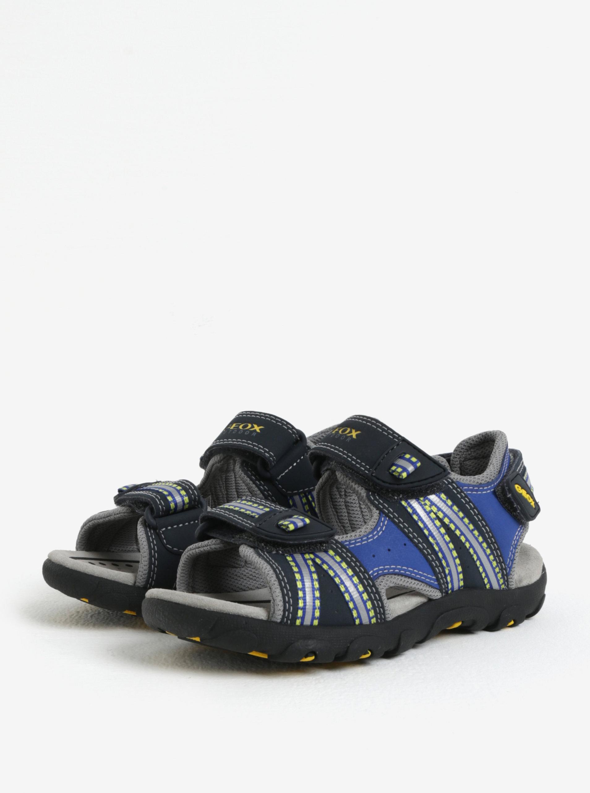 9d6cbf4b468 Modro-černé klučičí sandály Geox Strada - Akční cena
