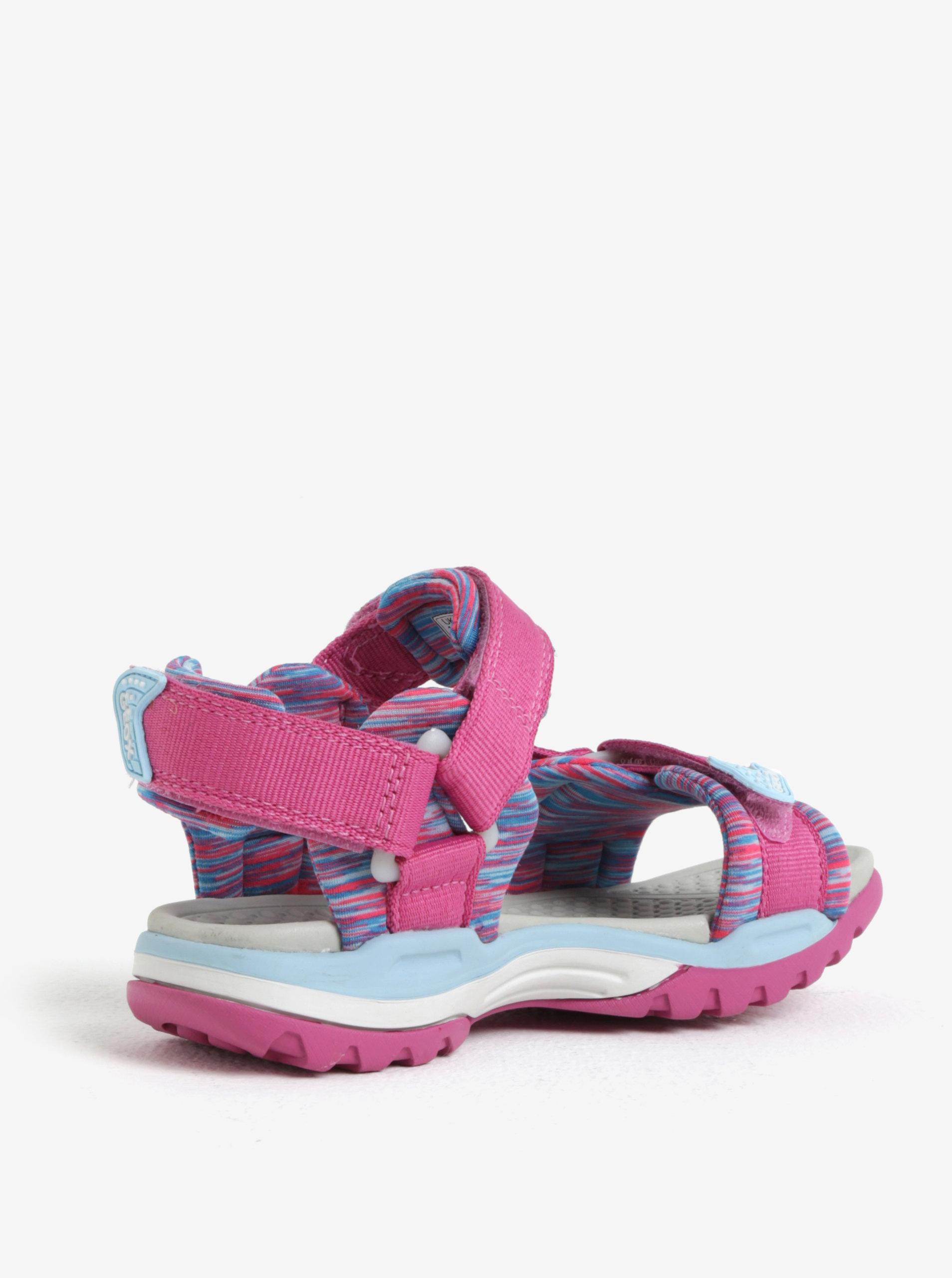 381d391859fa Modro-ružové dievčenské sandále Geox Borealis ...