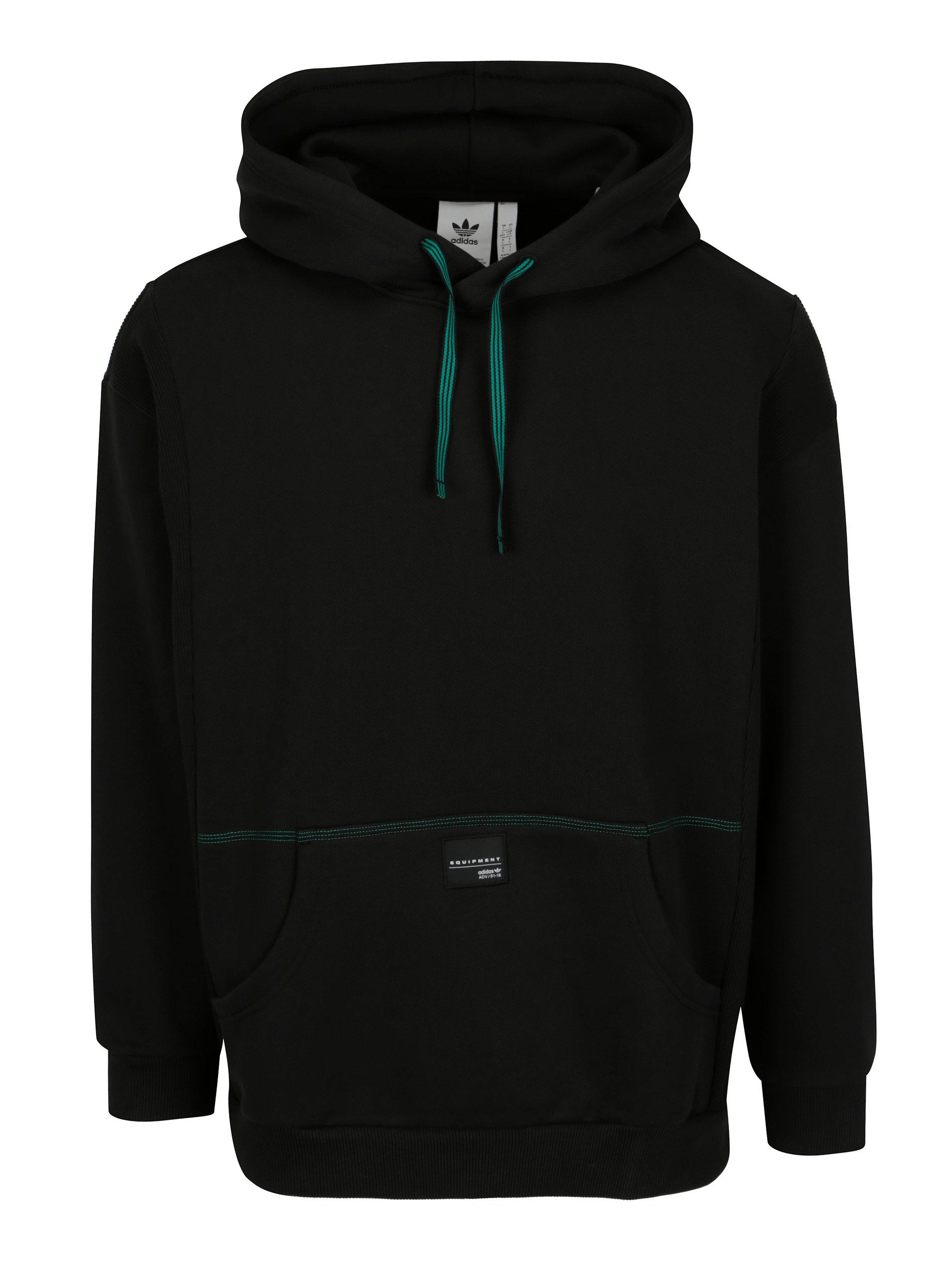 Černá pánská mikina s kapucí adidas Originals ... d6f2e0d4ac