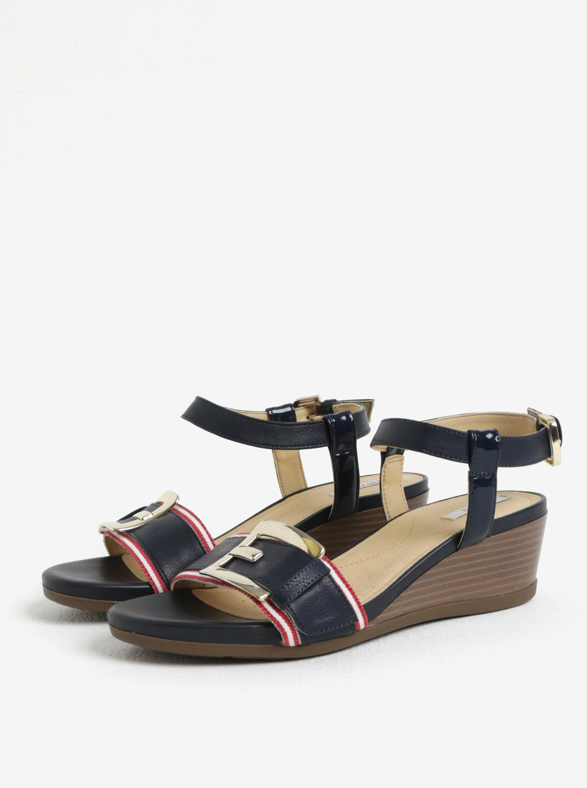 28197432a Modré sandále na plnom podpätku Geox Mary Karmen   ZOOT.sk