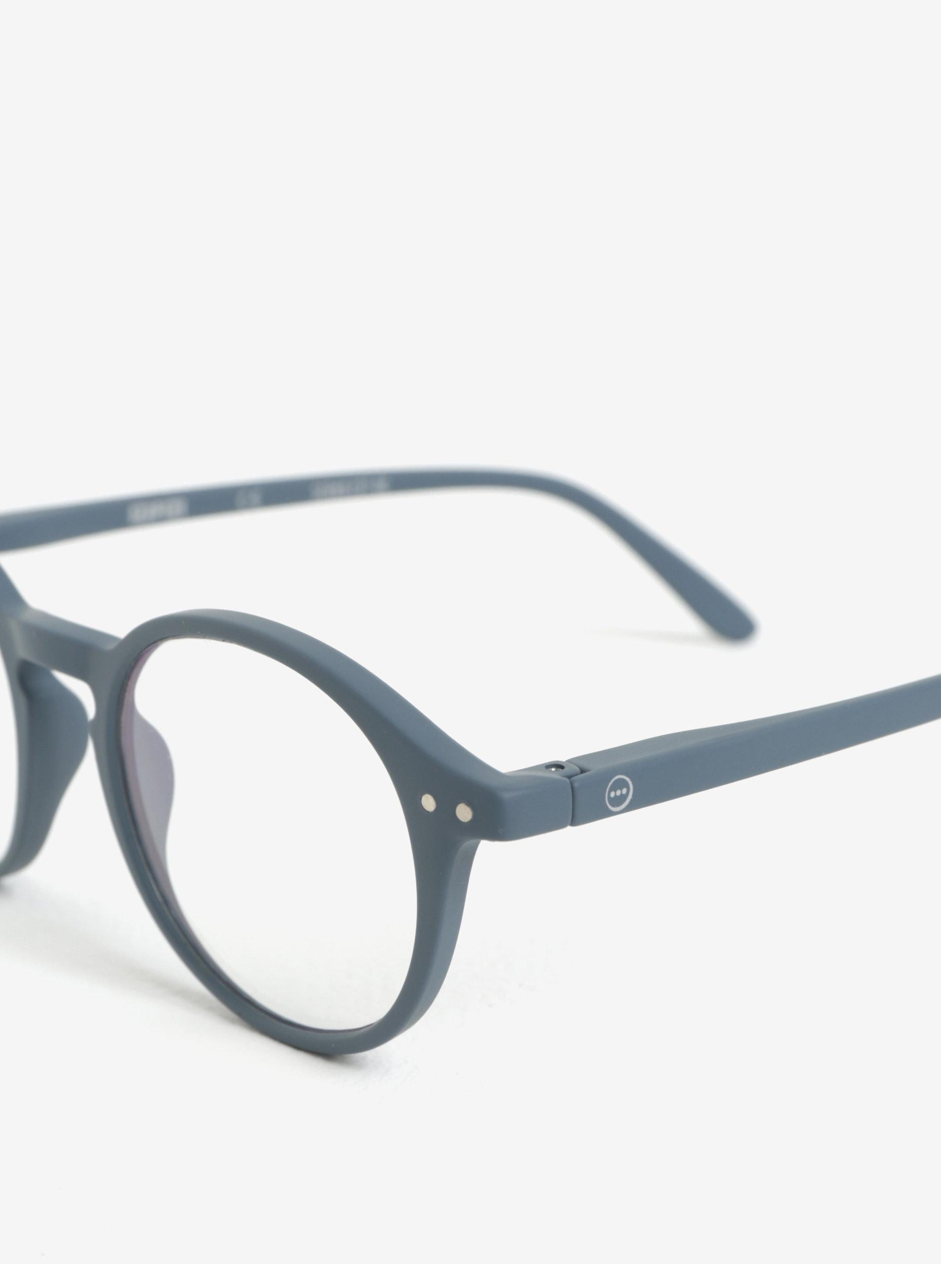 Šedé unisex ochranné brýle k PC IZIPIZI  D ... 51e37877244