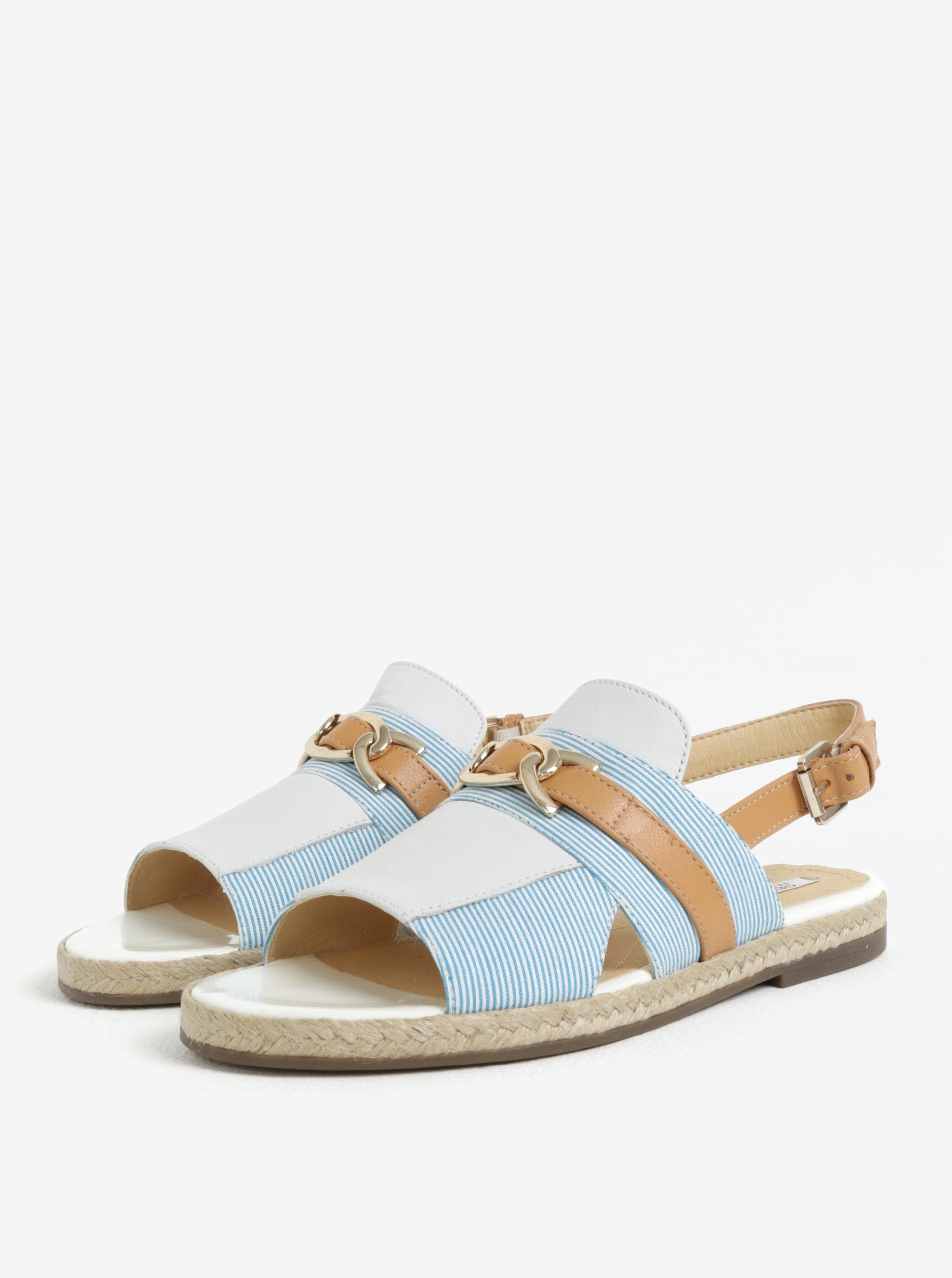 Hnědo-modré dámské sandály Geox Mary Kolleen ... 0fb233e002