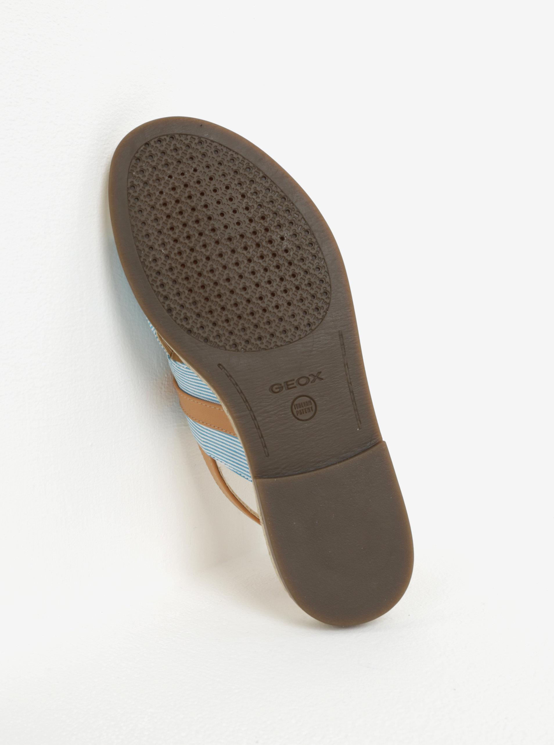 Hnědo-modré dámské sandály Geox Mary Kolleen ... 4ec6f5d458