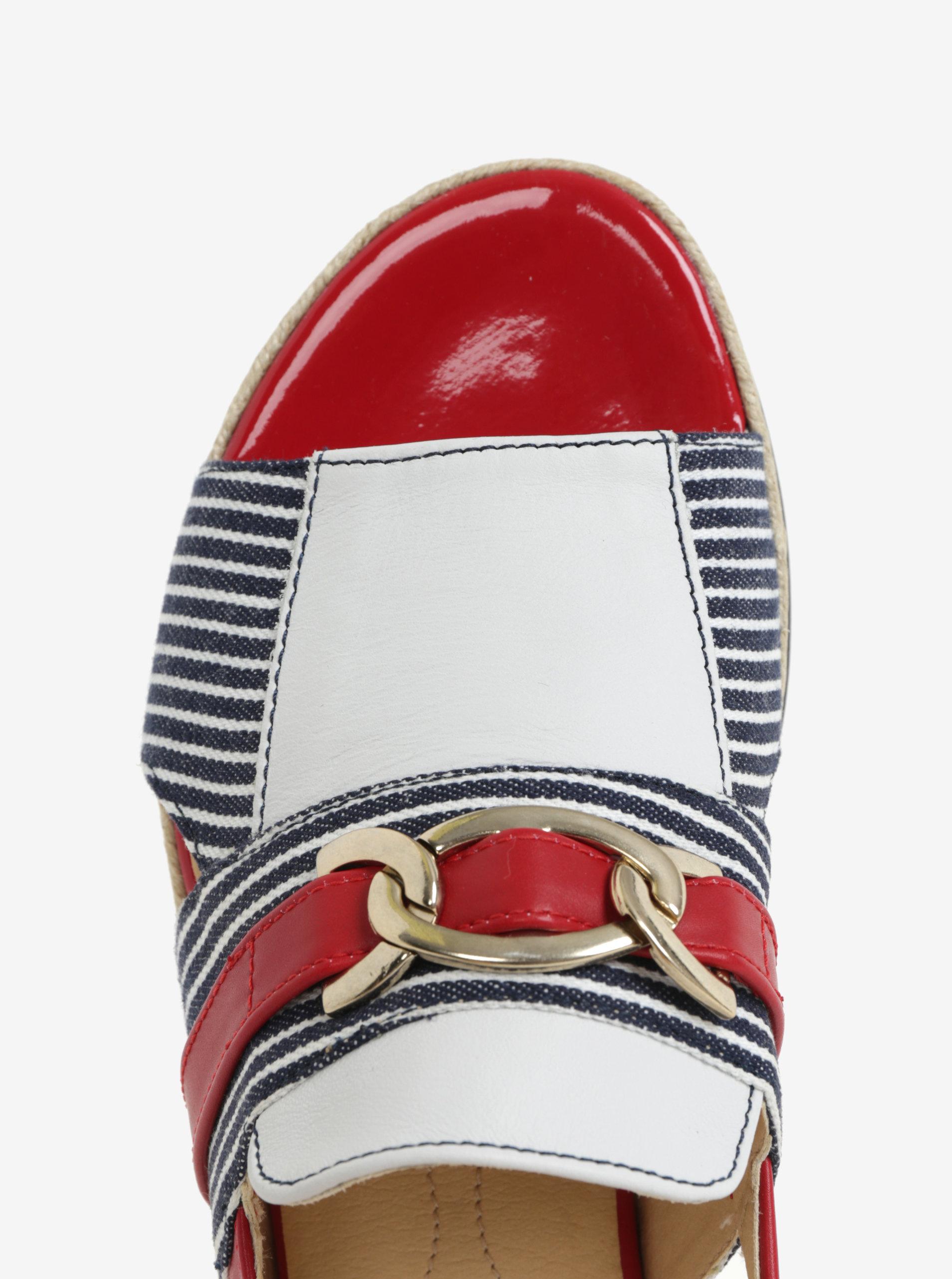 Červeno-modré dámské sandály Geox Mary Kolleen ... a3d3e45420