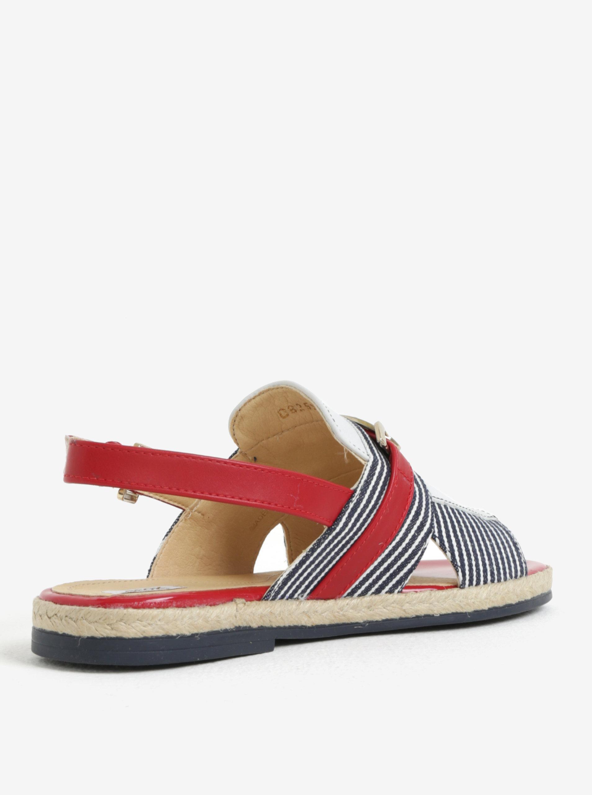 Červeno-modré dámské sandály Geox Mary Kolleen ... ec0d2a99d1