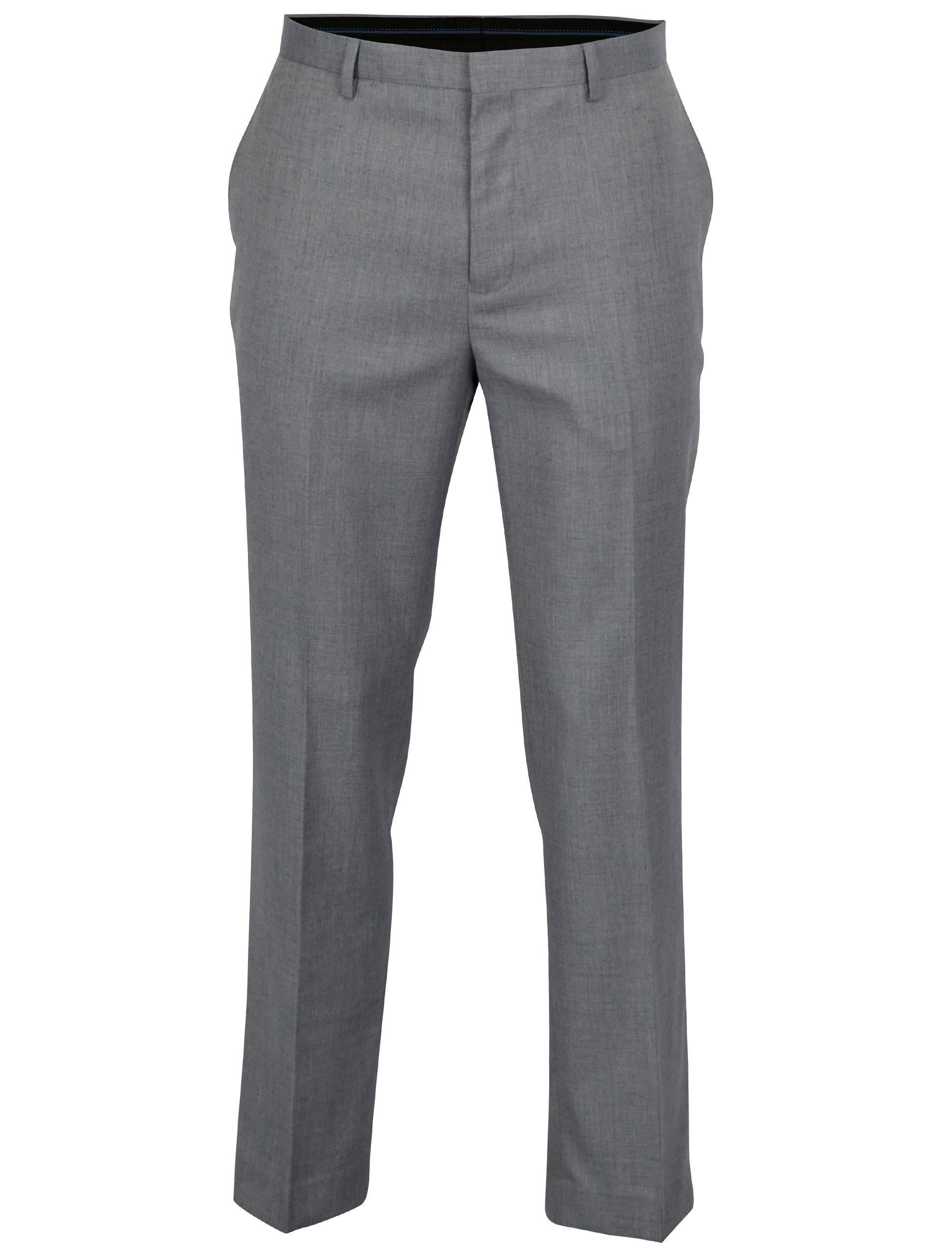 Šedé oblekové kalhoty Burton Menswear London