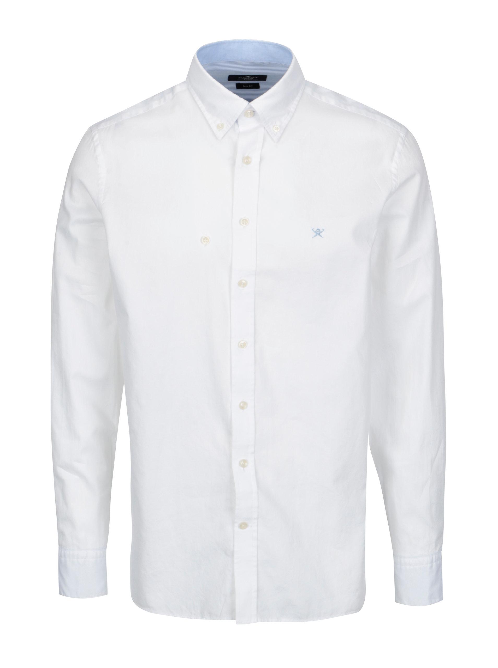 5c9b16be712b Biela slim fit košeľa Hackett London Oxford ...