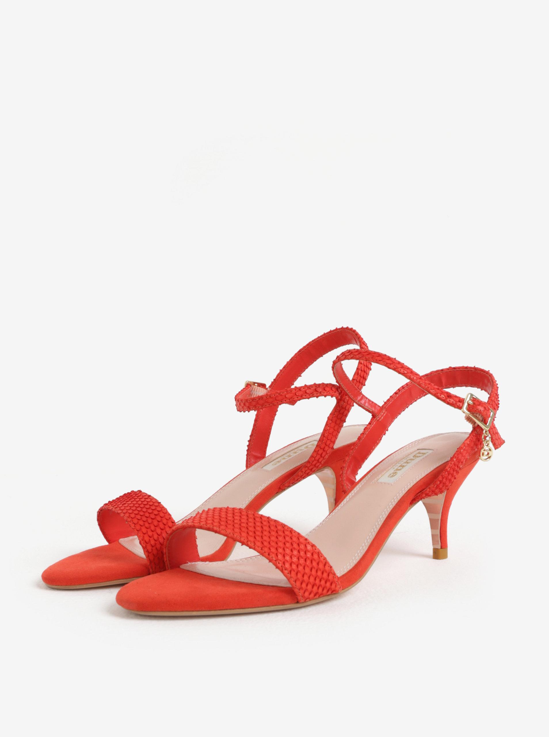 ed7900ffa4361 Červené sandálky na ihlovom podpätku Dune London Monnrow | ZOOT.sk