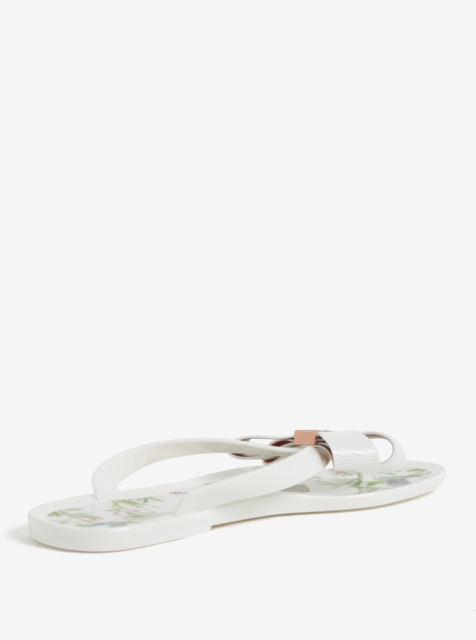 Krémové dámske žabky s mašľou Ted Baker Susziep ... 03aea65ce29