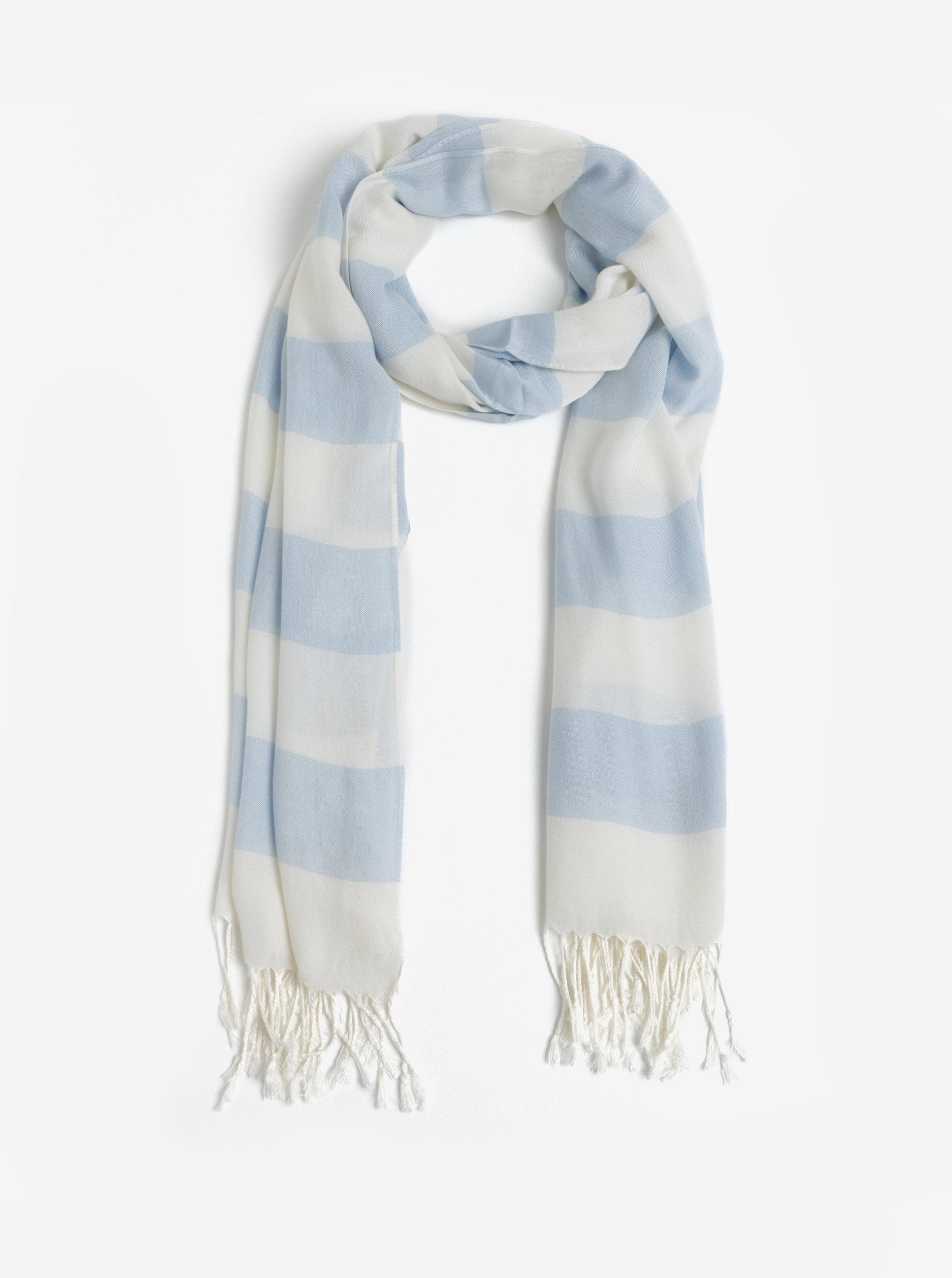 6f2ad7212 Světle modrý dámský pruhovaný šátek GANT | ZOOT.cz