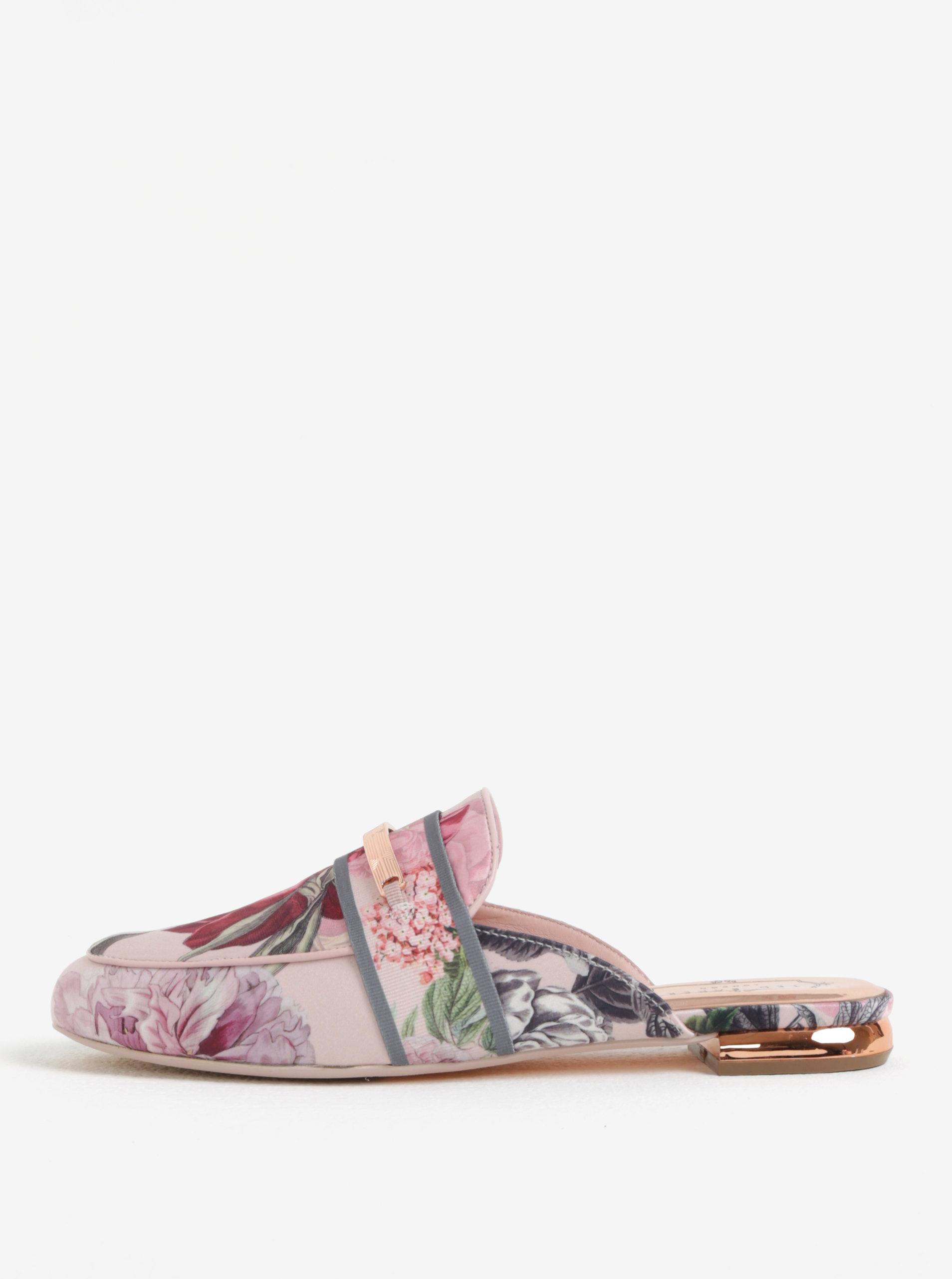8c5b17c50d09d Ružové dámske kvetované šľapky Ted Baker Klovar | ZOOT.sk
