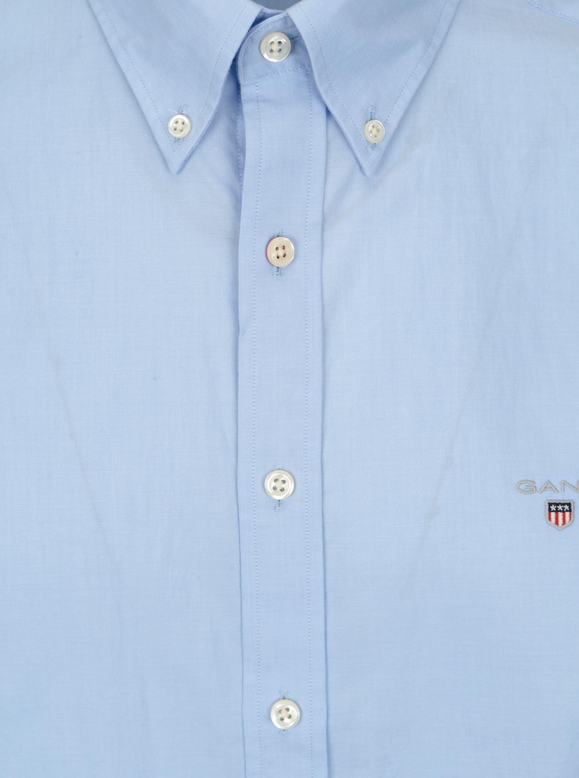 98265a5a7cc1 Svetlomodrá pánska slim košeľa GANT ...
