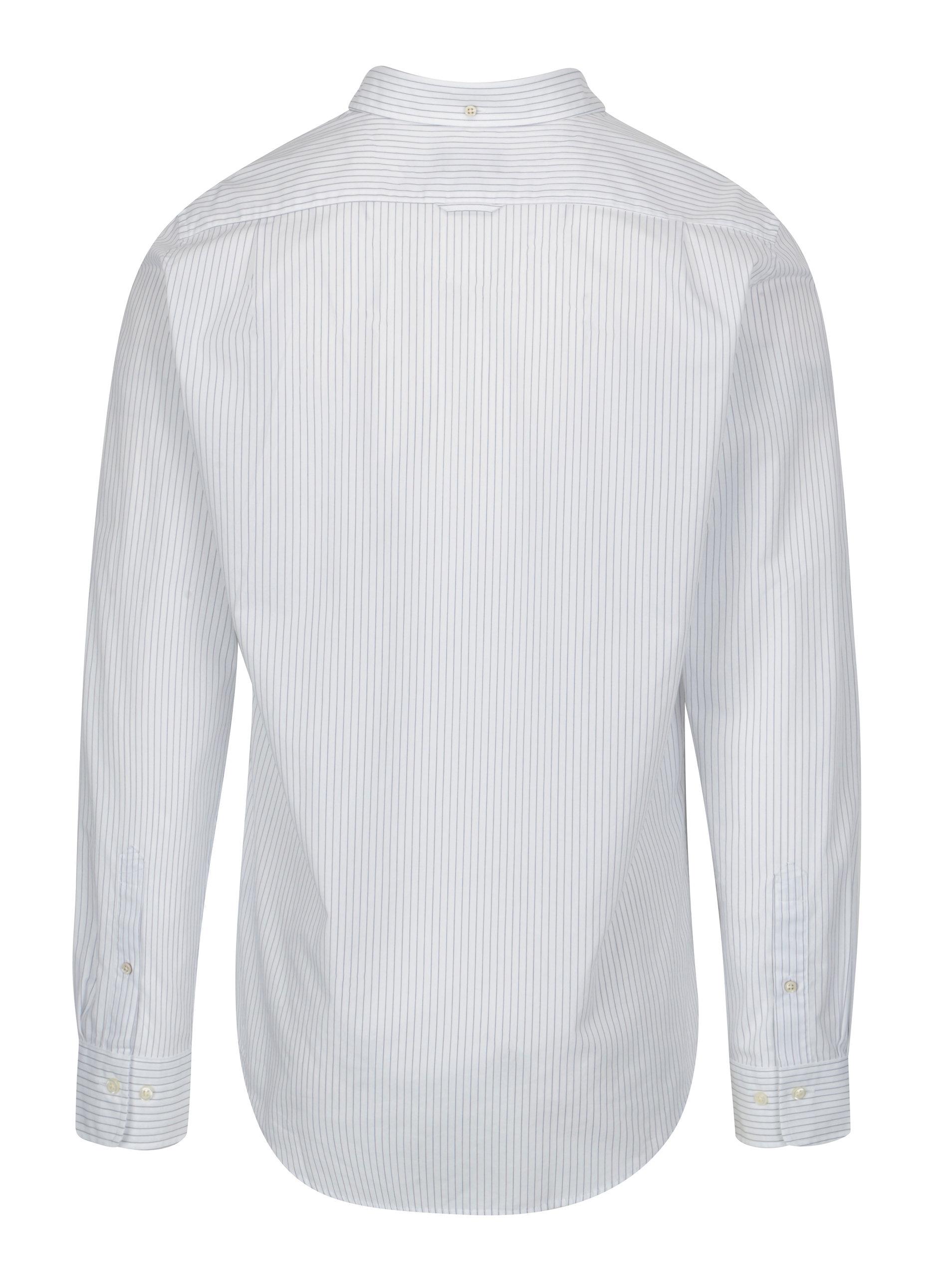 Bílá pruhovaná pánská slim košile GANT Bílá pruhovaná pánská slim košile  GANT ... b065aac652