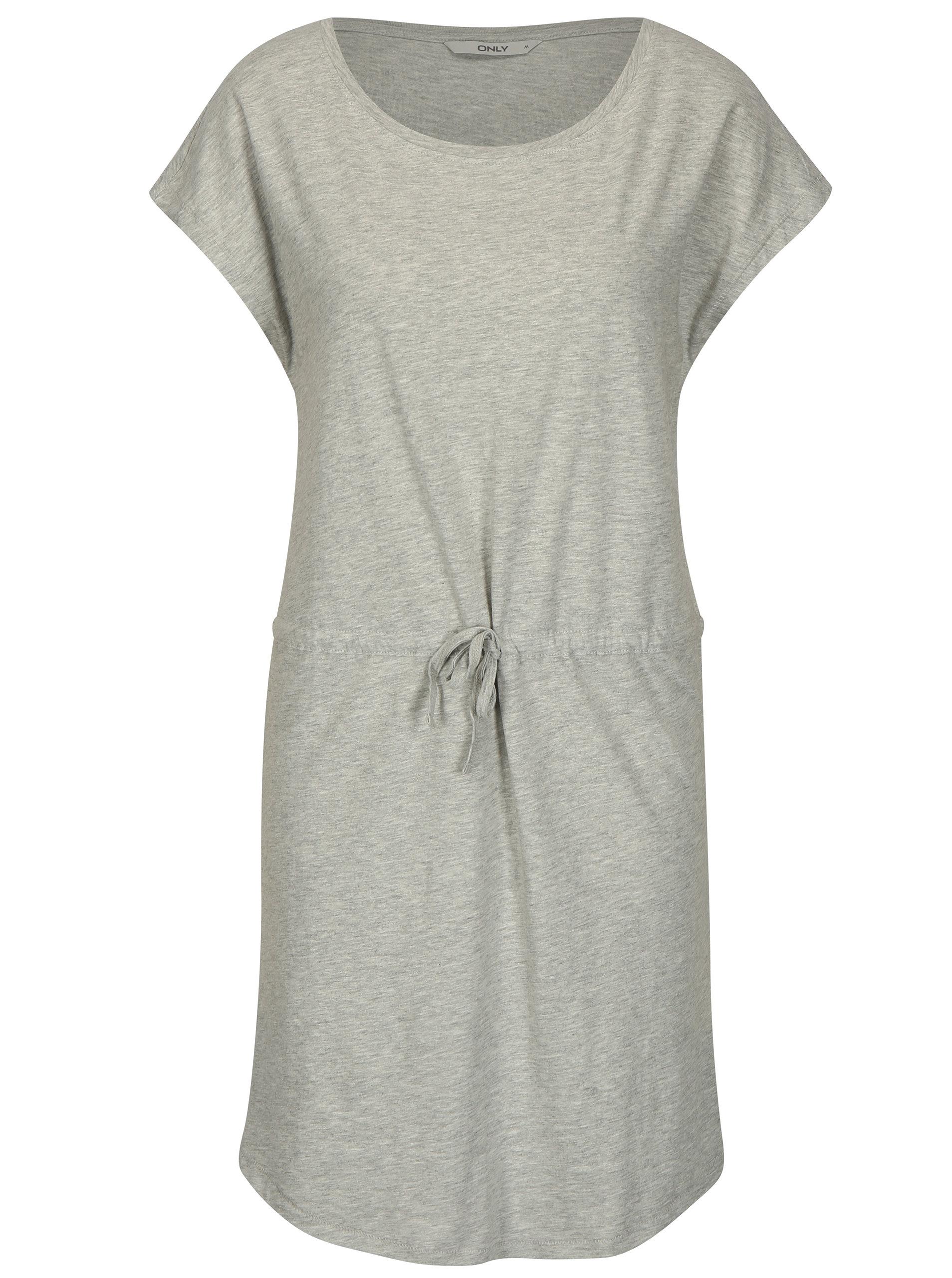 575d4b5c115f Sivé melírované šaty s krátkym rukávom ONLY May ...
