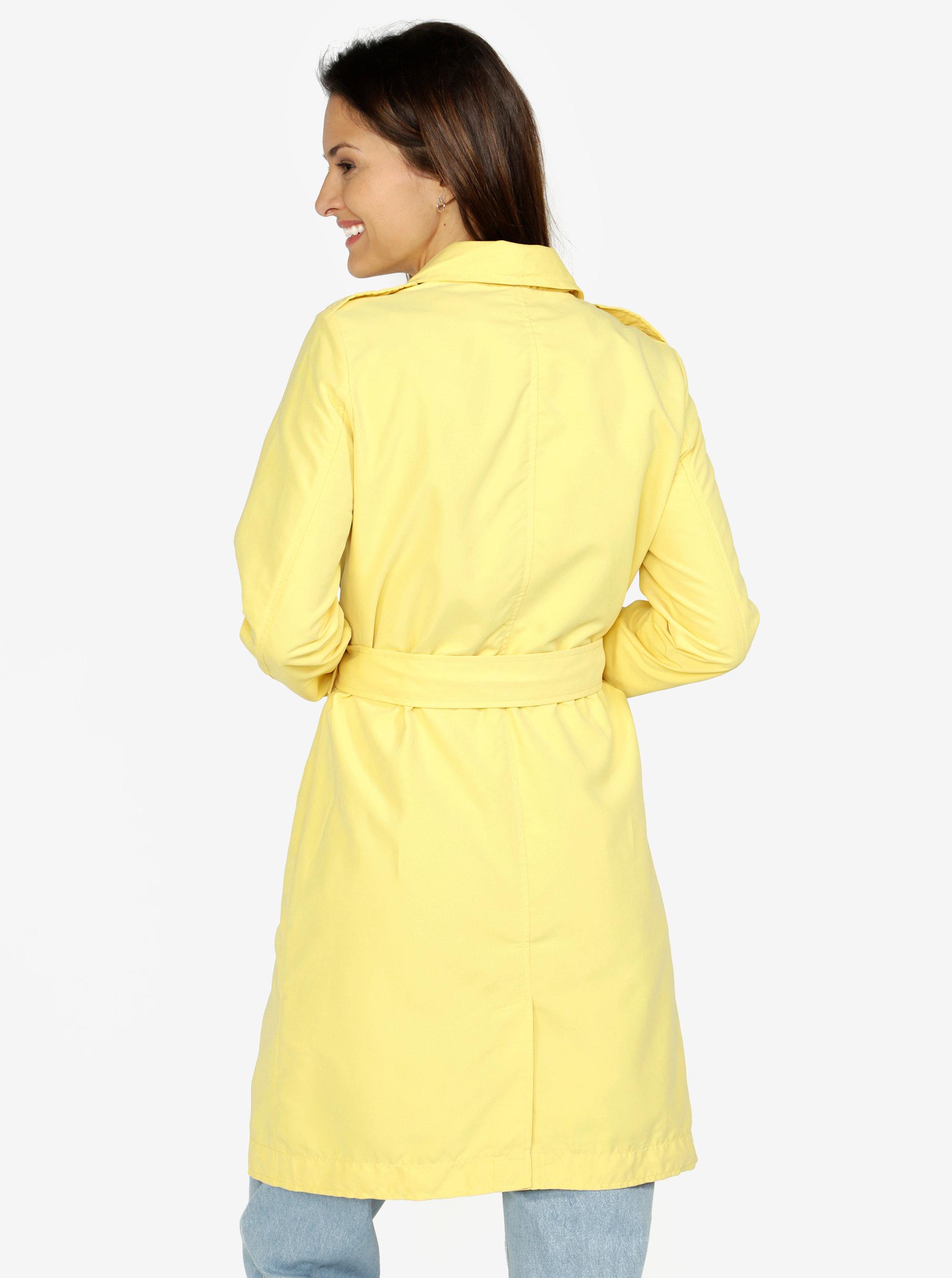 Žlutý kabát VERO MODA Elina ... 7600cb4eff3