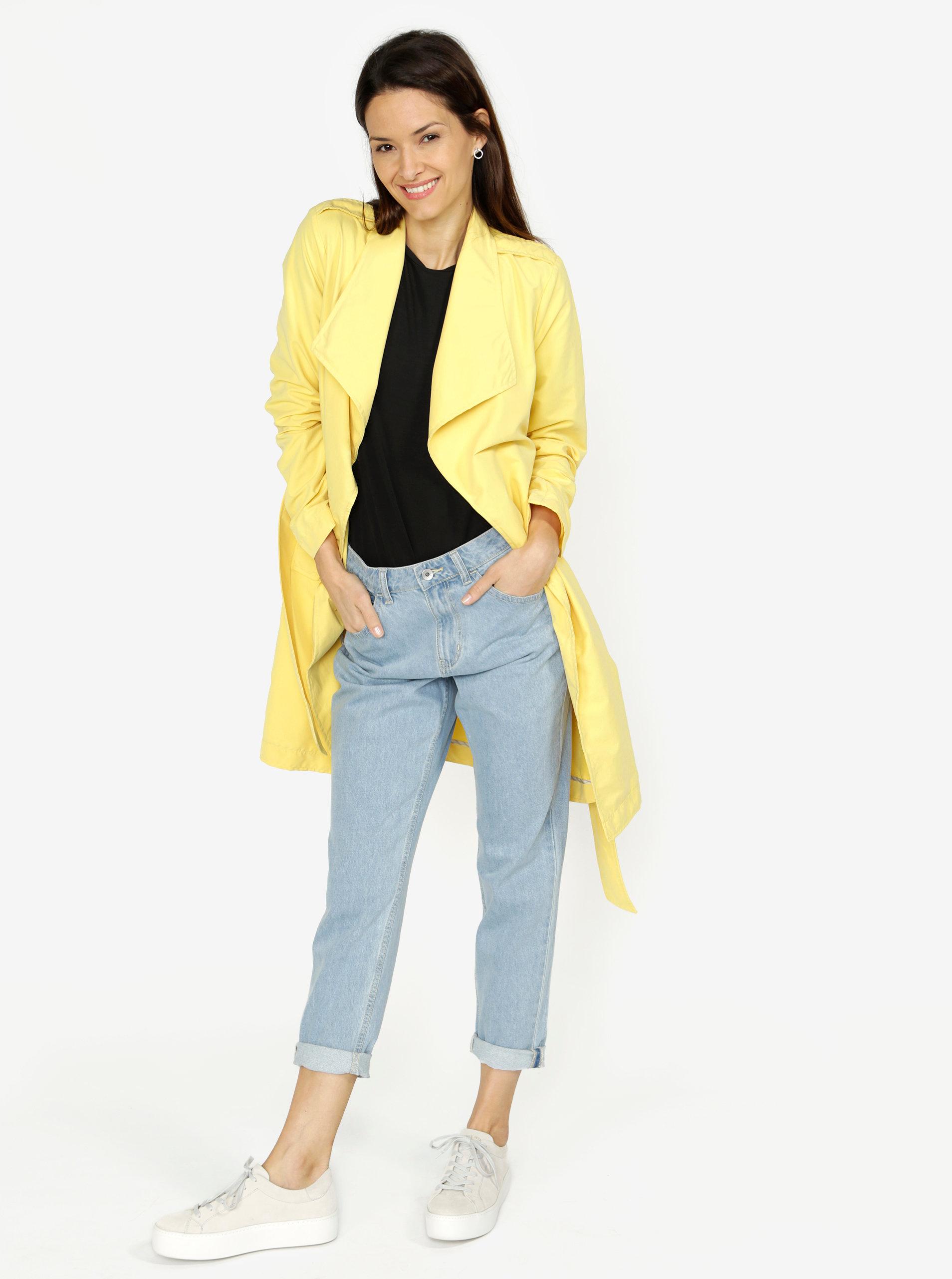 Žltý kabát VERO MODA Elina ... 5d8c865463c