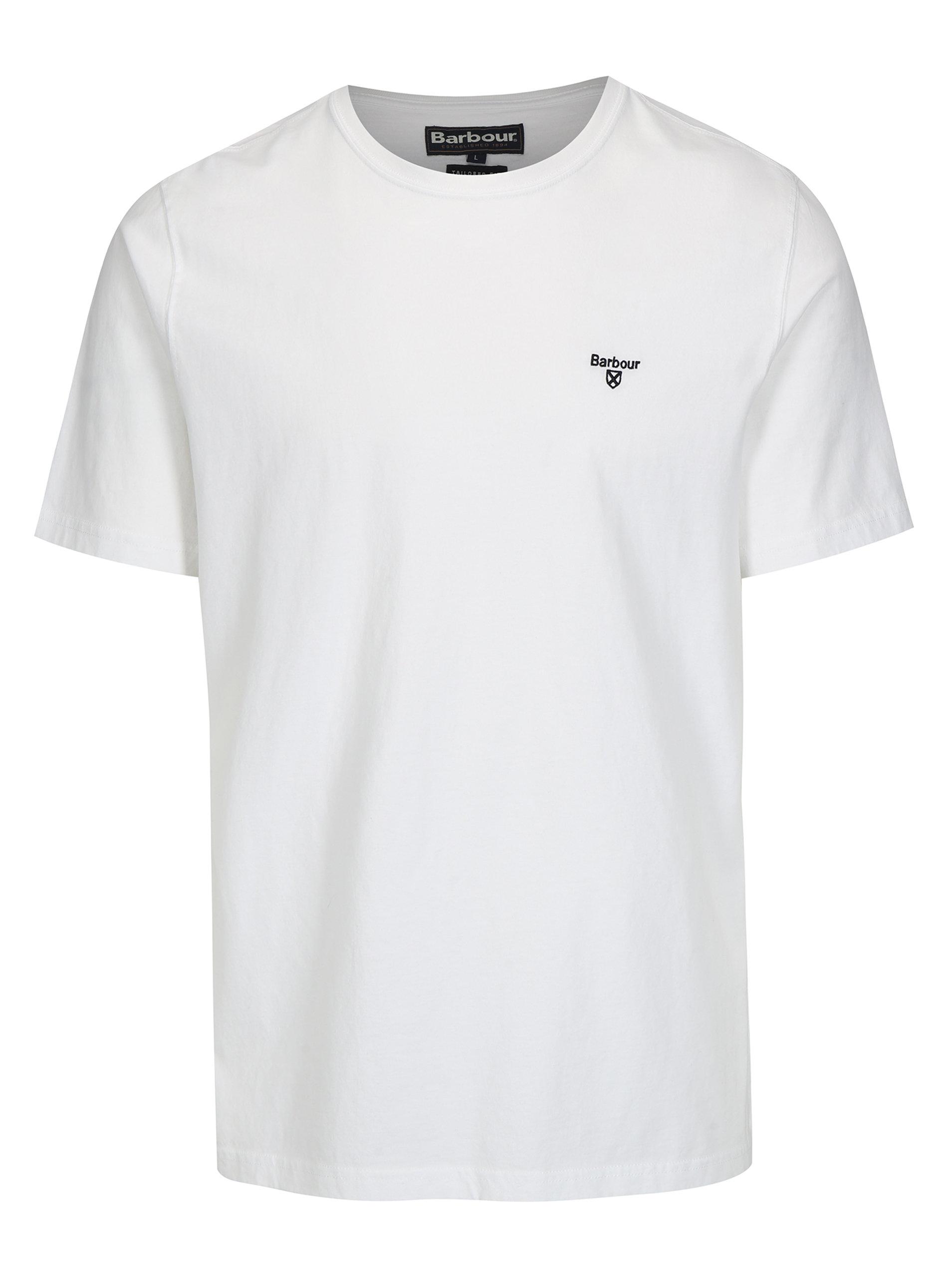 5b1bec3cce6 Bílé tailored fit basic tričko Barbour Sports Tee ...