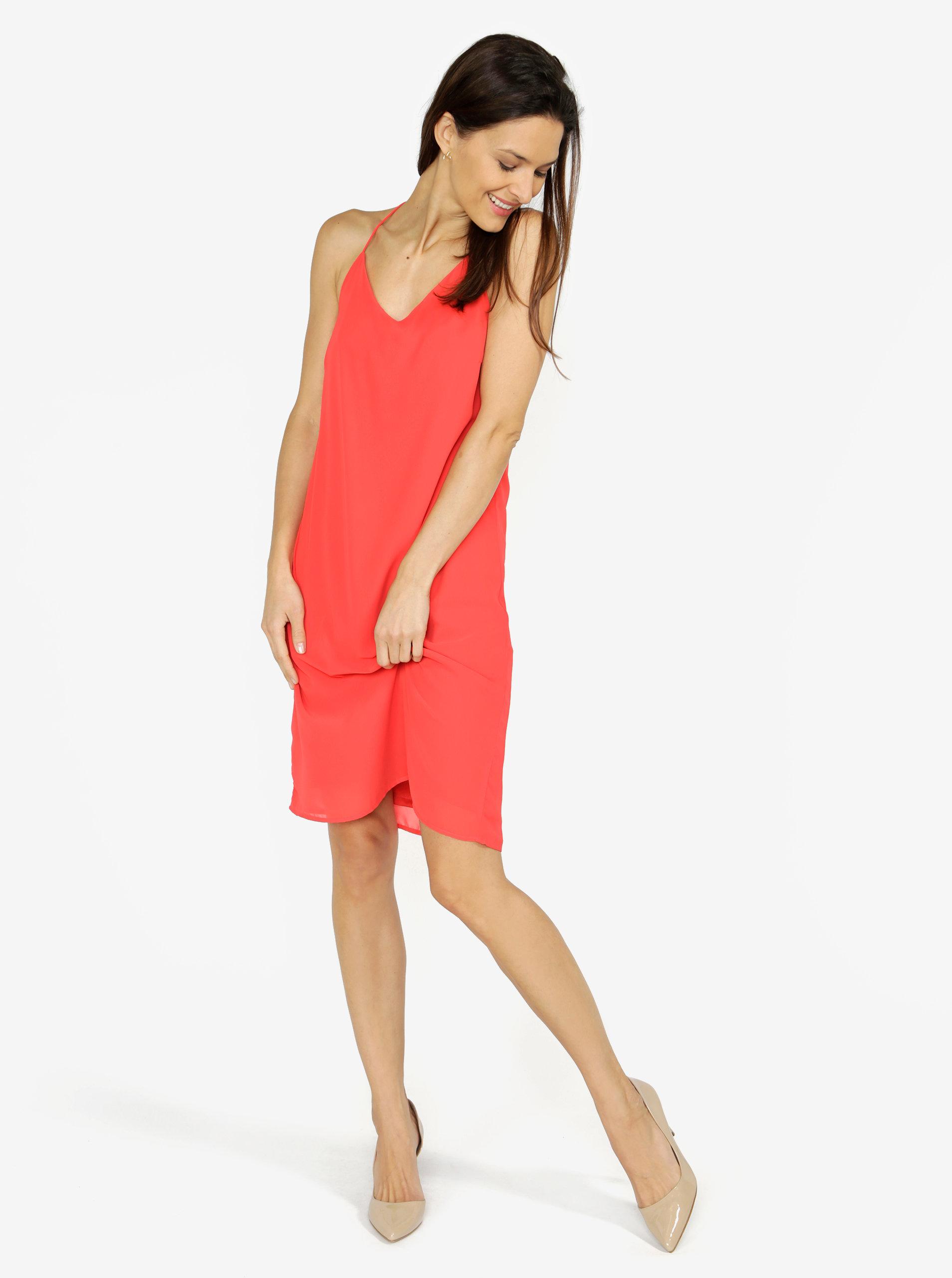 Červené šaty na ramienka VERO MODA Diana ... ec07650d07f