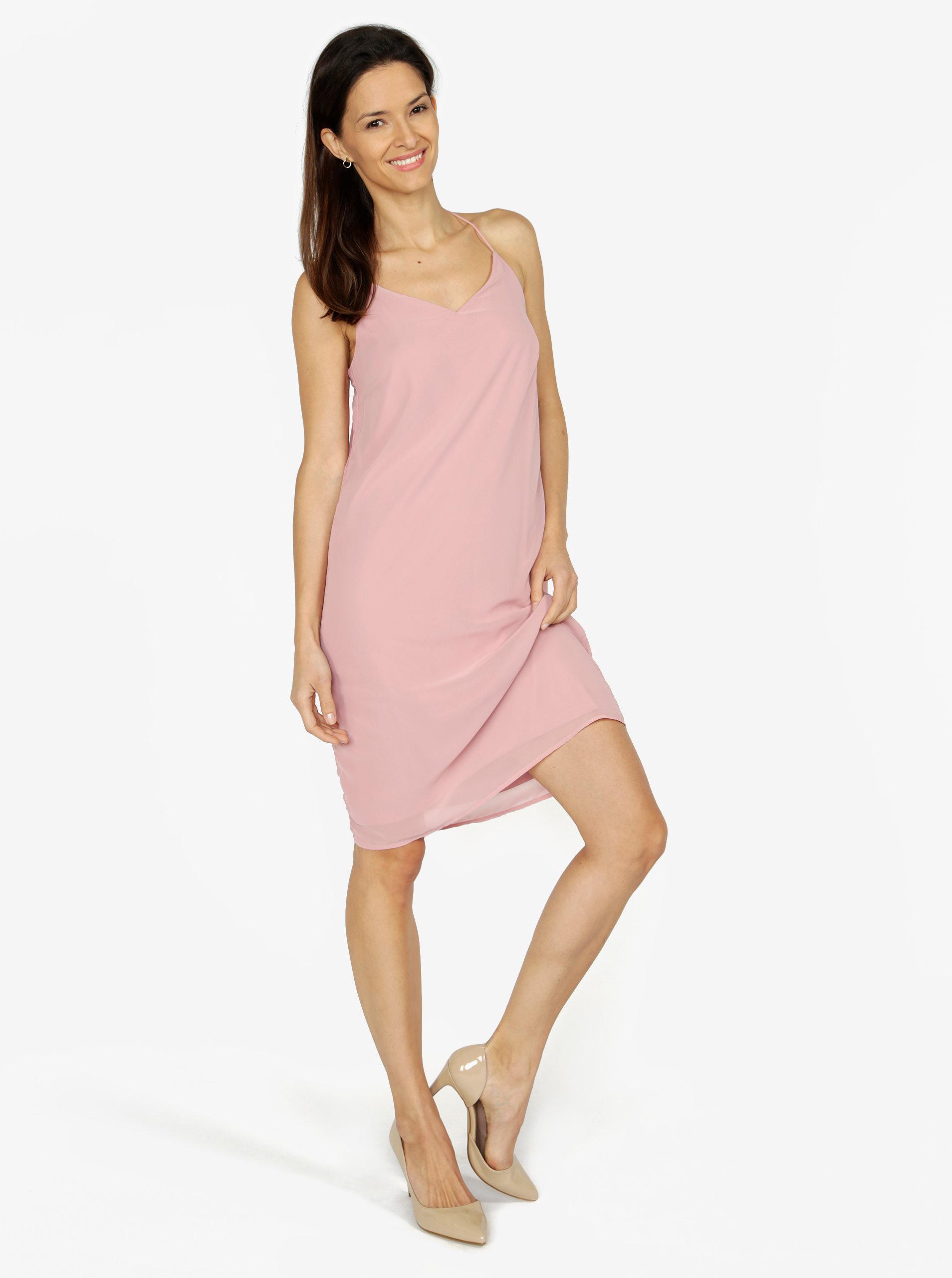 efd217dbb63a Ružové šaty na ramienka VERO MODA Diana ...