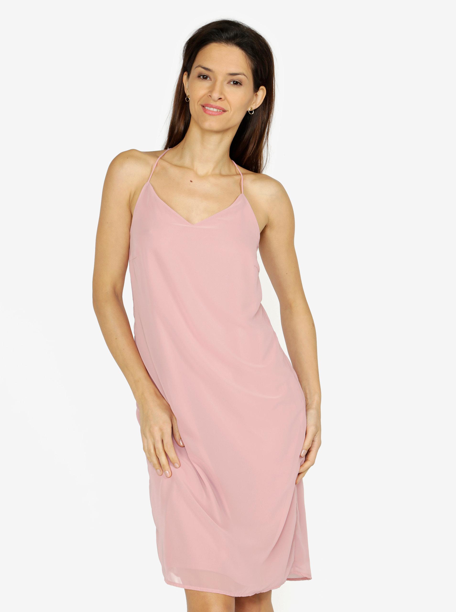 9df7f11b410d Ružové šaty na ramienka VERO MODA Diana ...