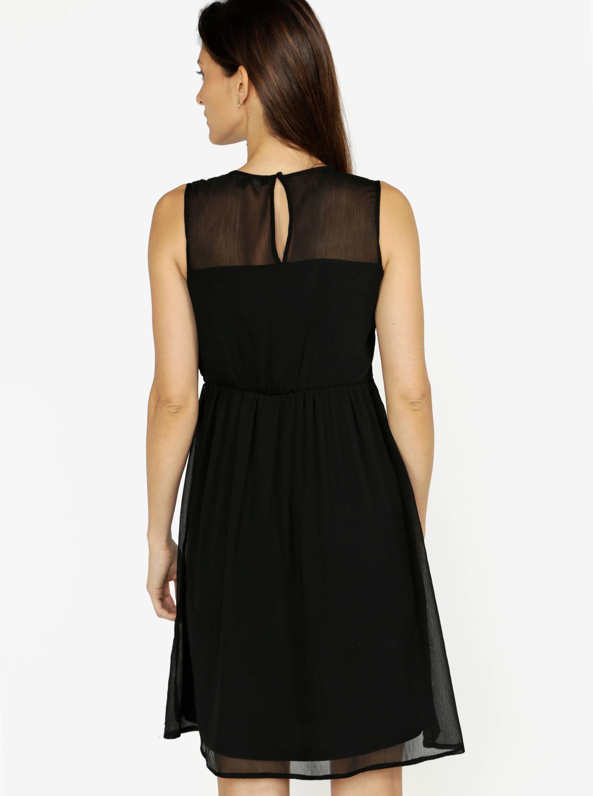 a005cef3e46 Černé šaty s krajkou VERO MODA Dacey ...