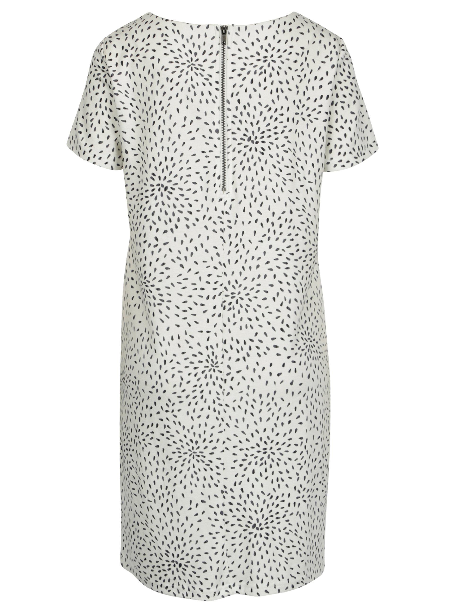 2077bff7cd75 Krémové vzorované šaty s krátkým rukávem VILA Tinny ...
