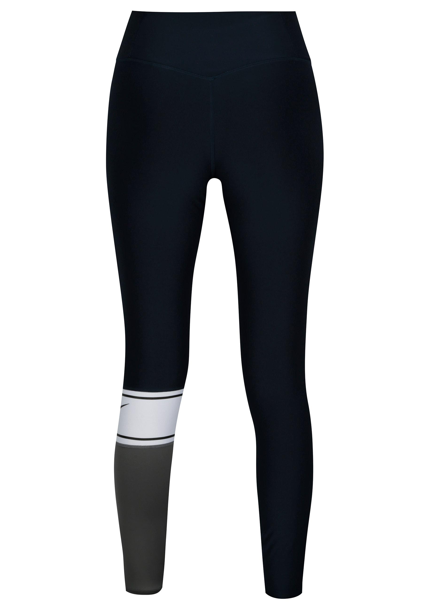 Sivo-modré dámske funkčné legíny Nike Power Training Tights ... 6164046530