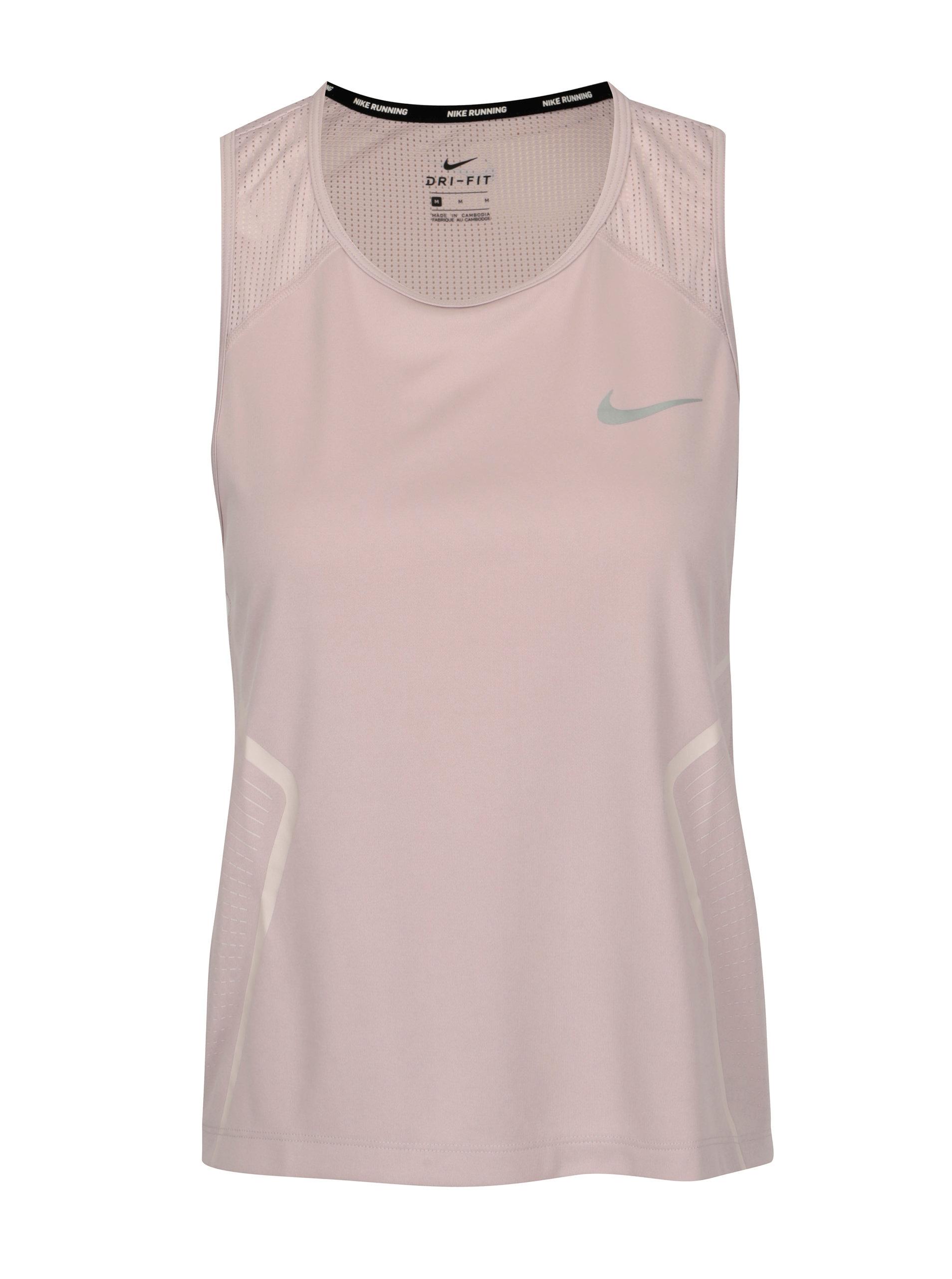 d1ccc11f4877 Ružové dámske funkčné tielko Nike Dry Miler Tank ...