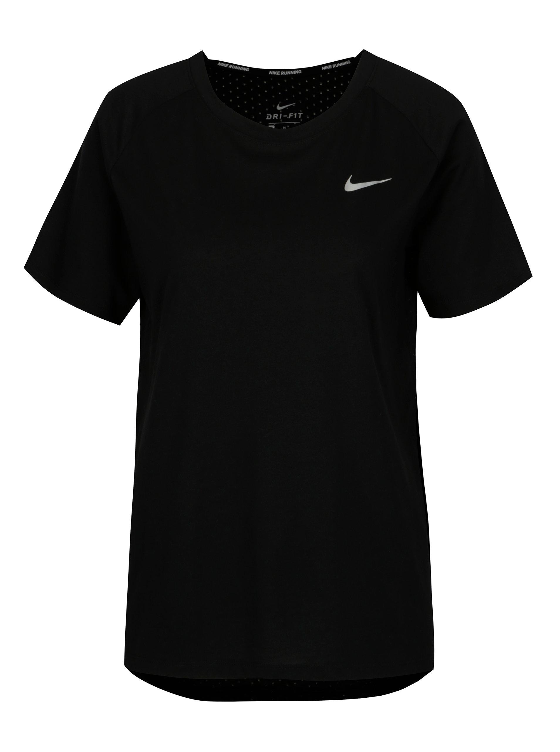 1c8fcf843cc Černé dámské funkční tričko Nike Tailwind ...