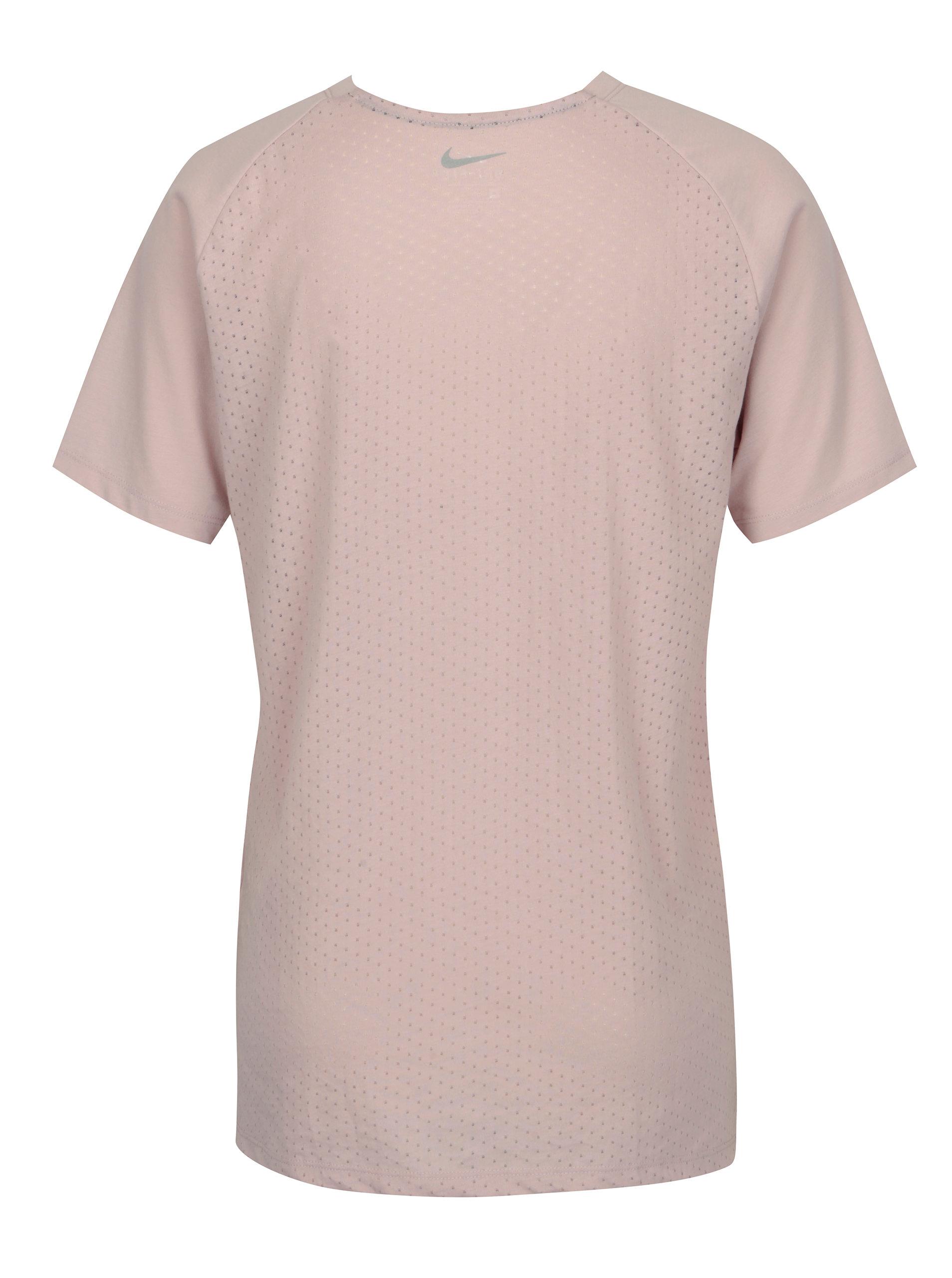 cb2c42322254 Ružové dámske funkčné tričko Nike Tailwind ...