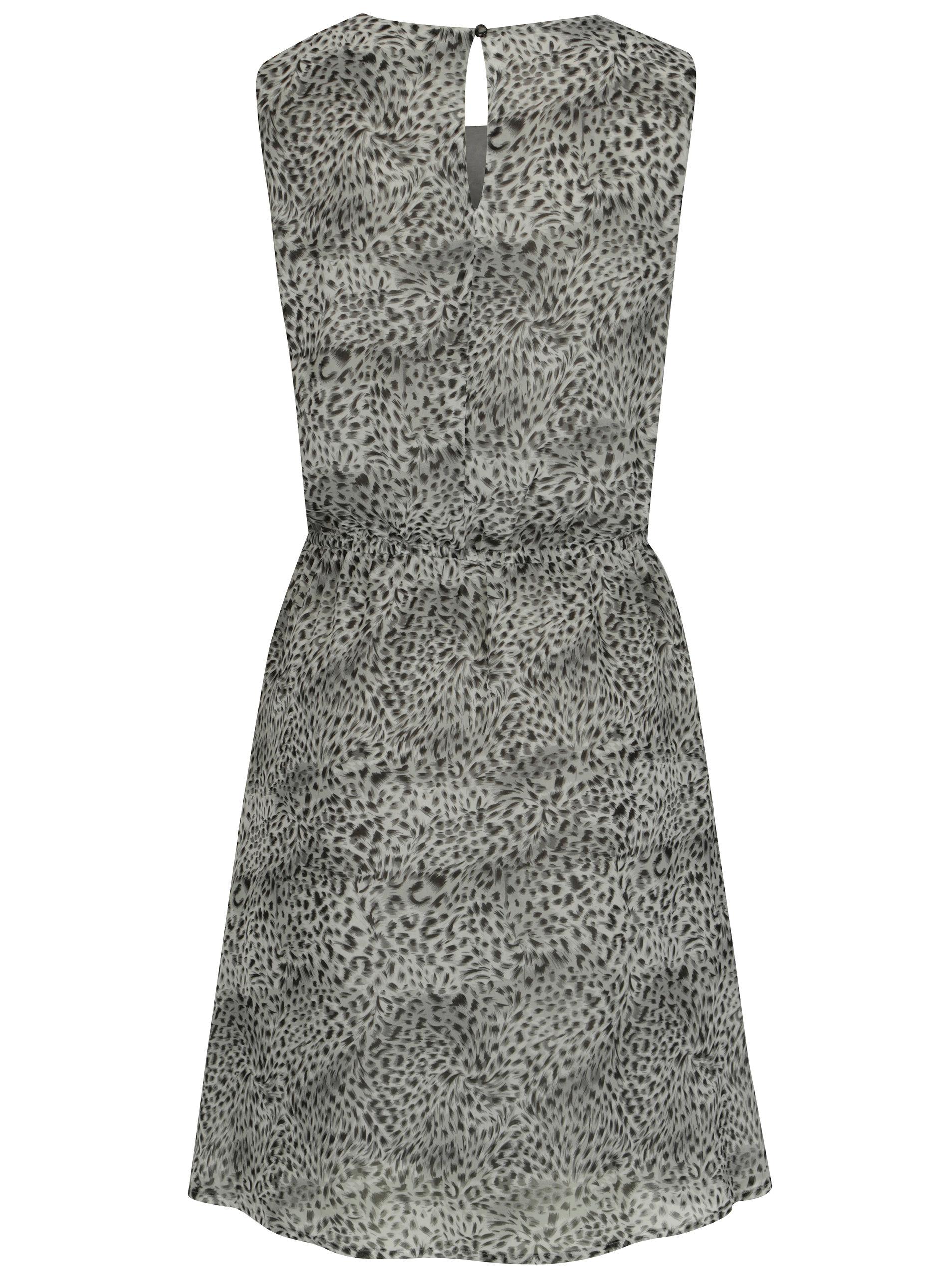 6f250a6a1e38 Svetlosivé šaty s leopardím vzorom Smashed Lemon ...