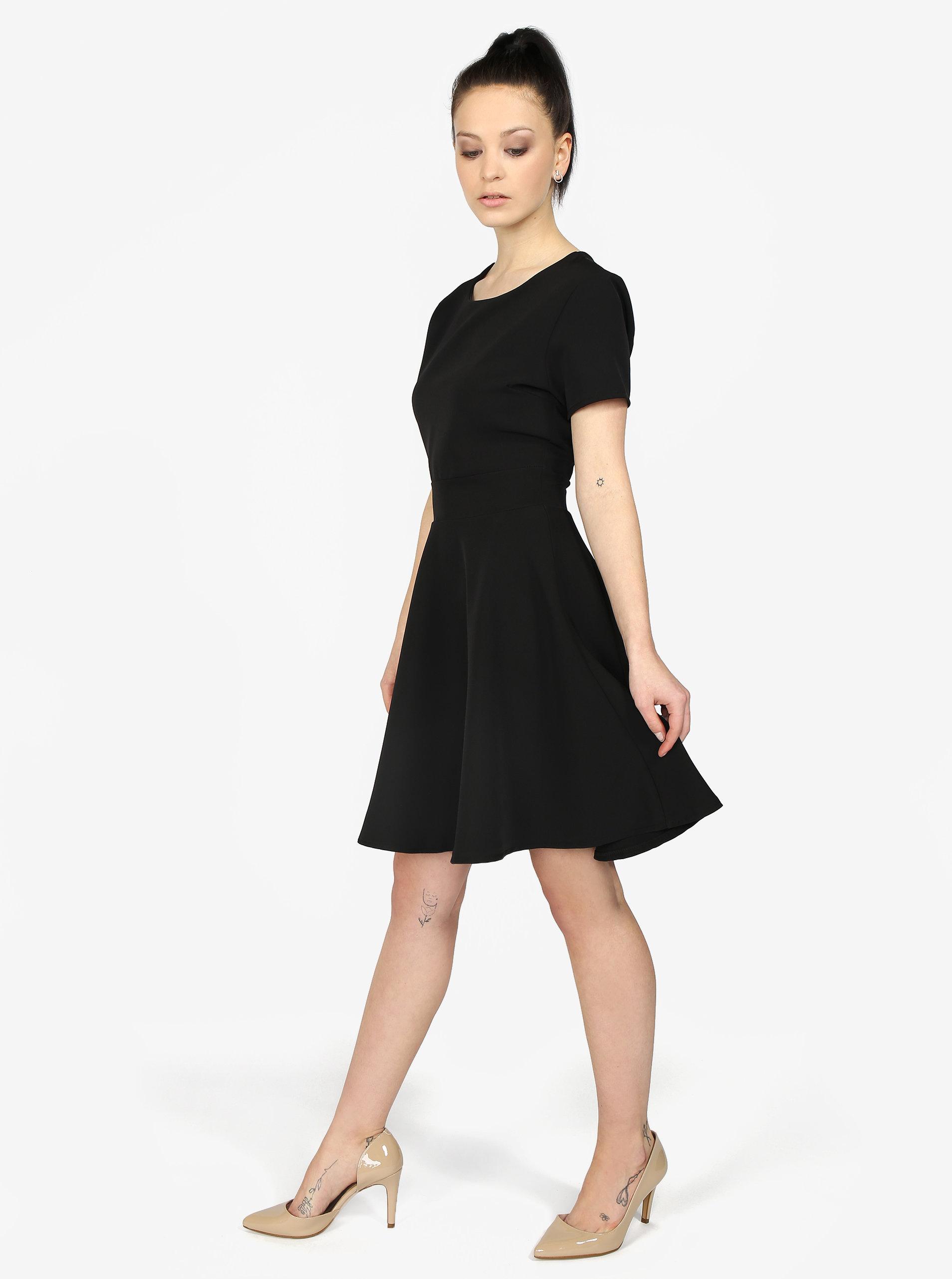 512fa926b194 Čierne áčkové šaty Haily s Hanna ...