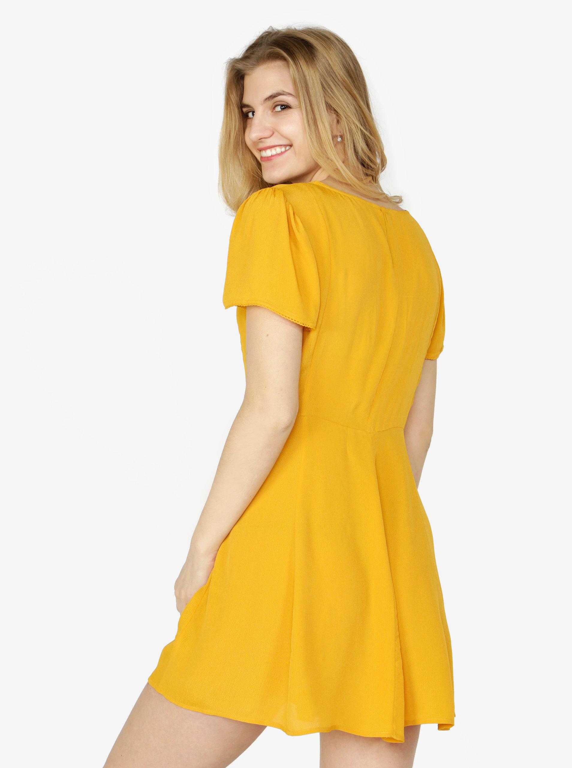 6f76788c700a Horčicové šaty Miss Selfridge ...